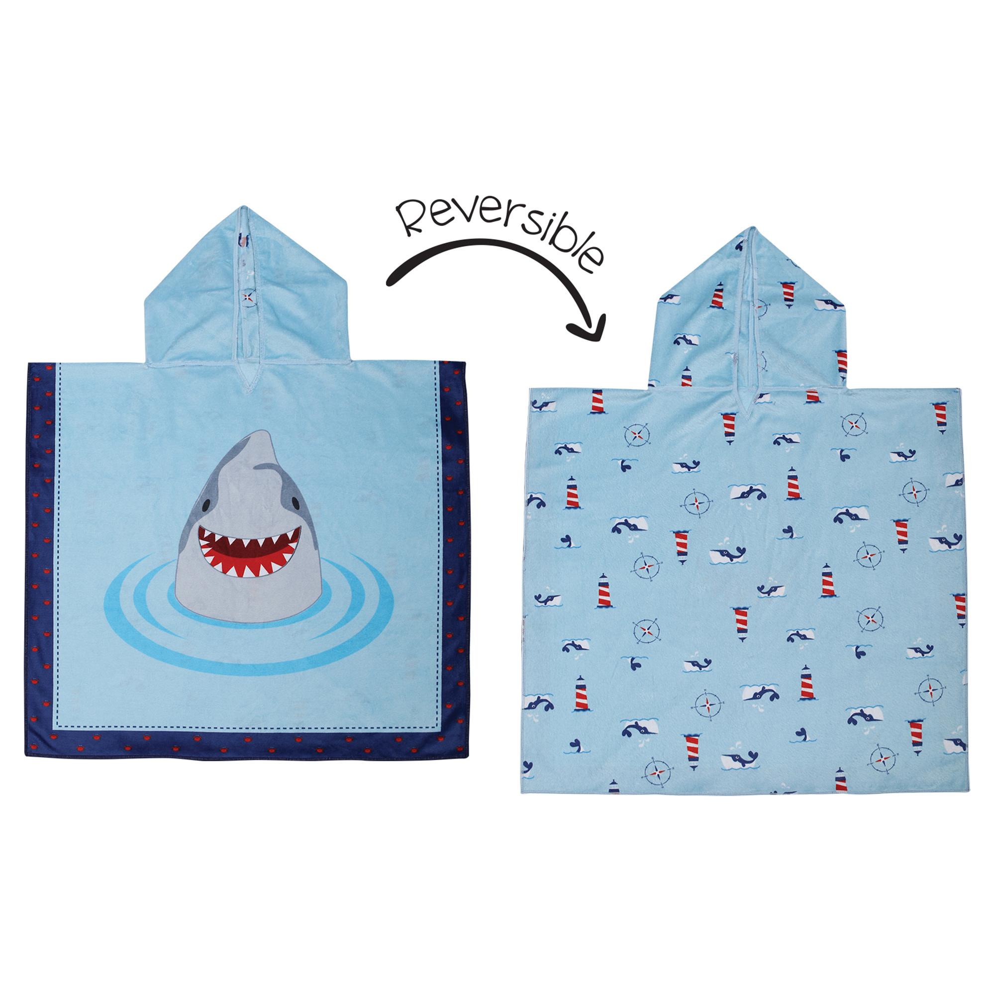 Serviette à capuchon réversible - Requins-1
