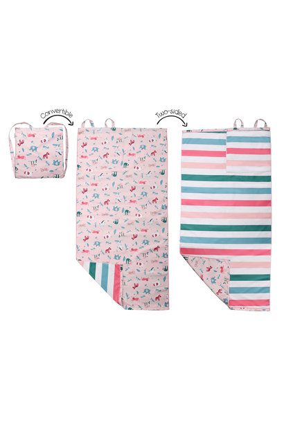 Sac à dos serviette - Zoo rose