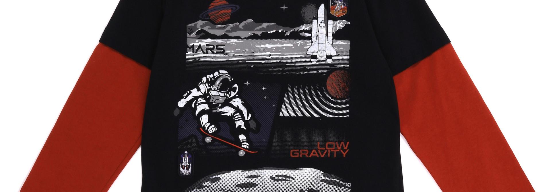 T-shirt Manches longues - Mission sur Mars