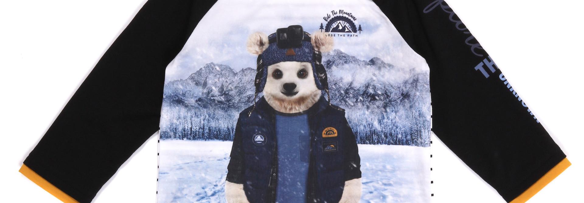 T-shirt Manches longues Ours - Roi de la Montagne