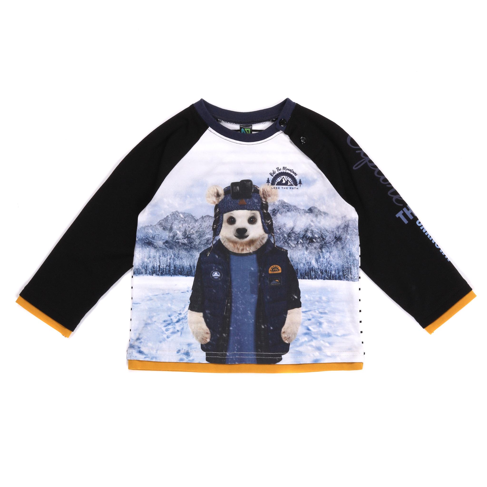 T-shirt Manches longues Ours - Roi de la Montagne-1