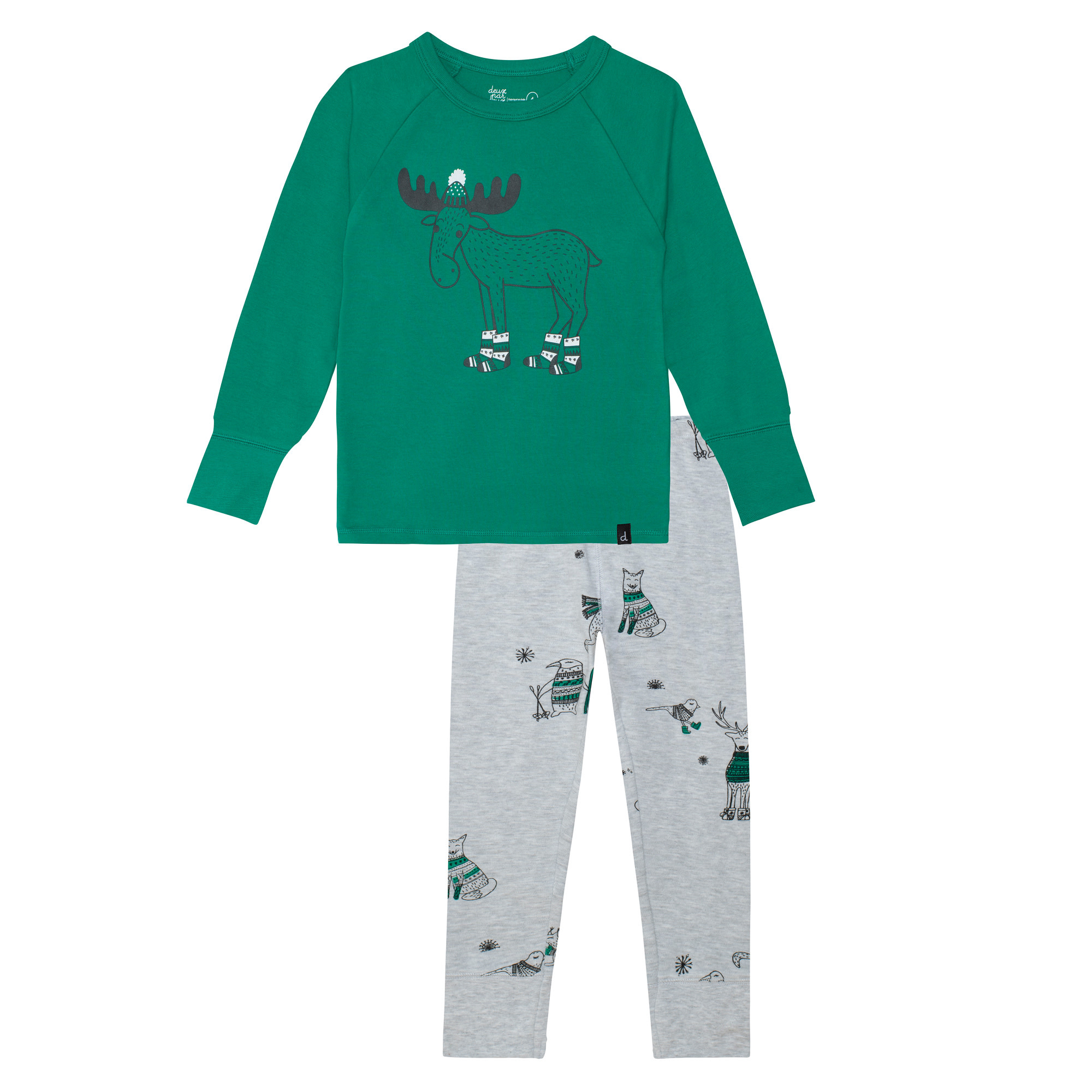 Pyjama Noël Polaire Vert-1