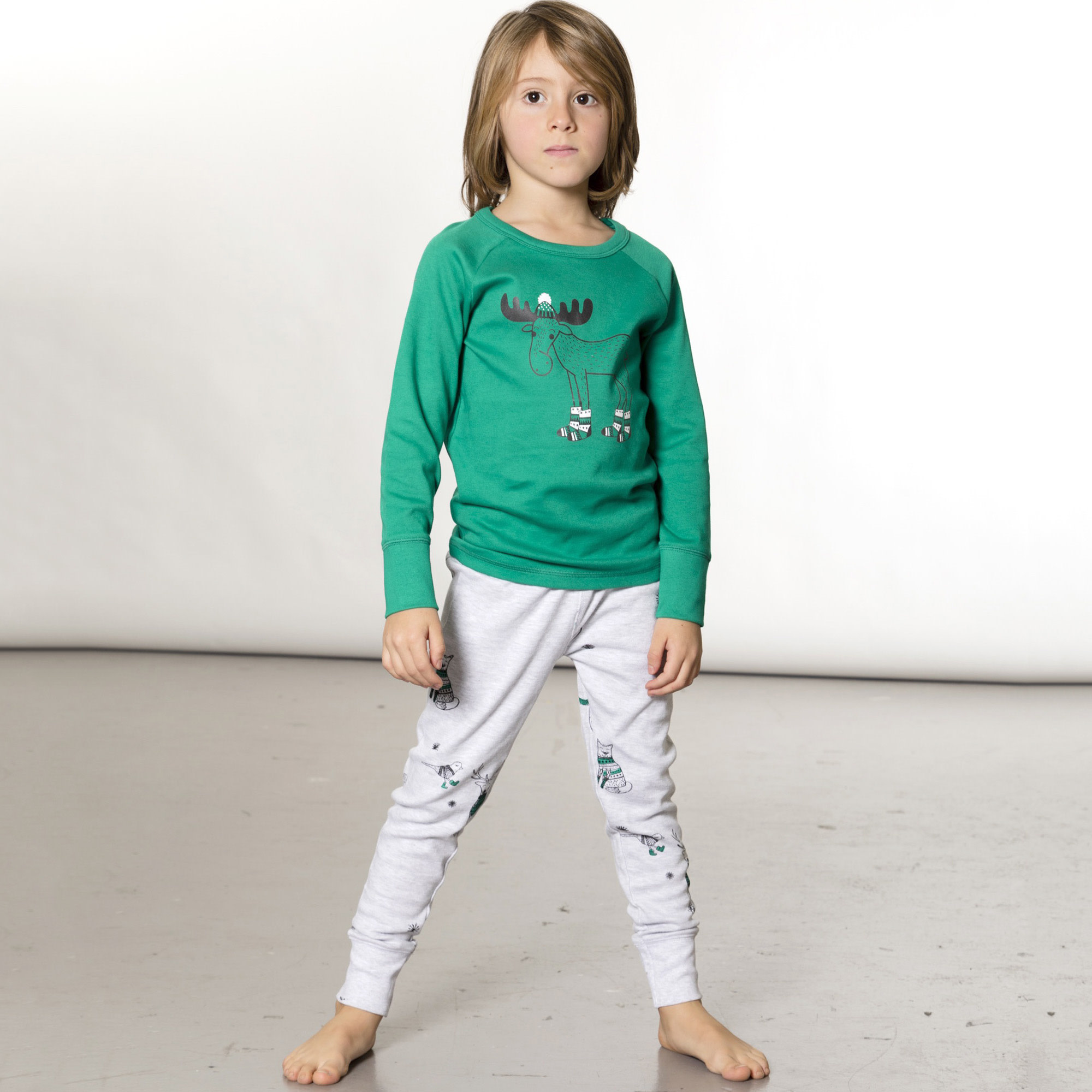 Pyjama Noël Polaire Vert-2