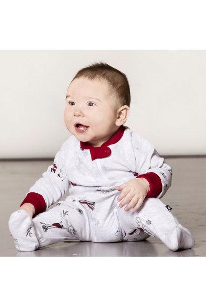 Pyjama Noël Polaire Bébé Rouge