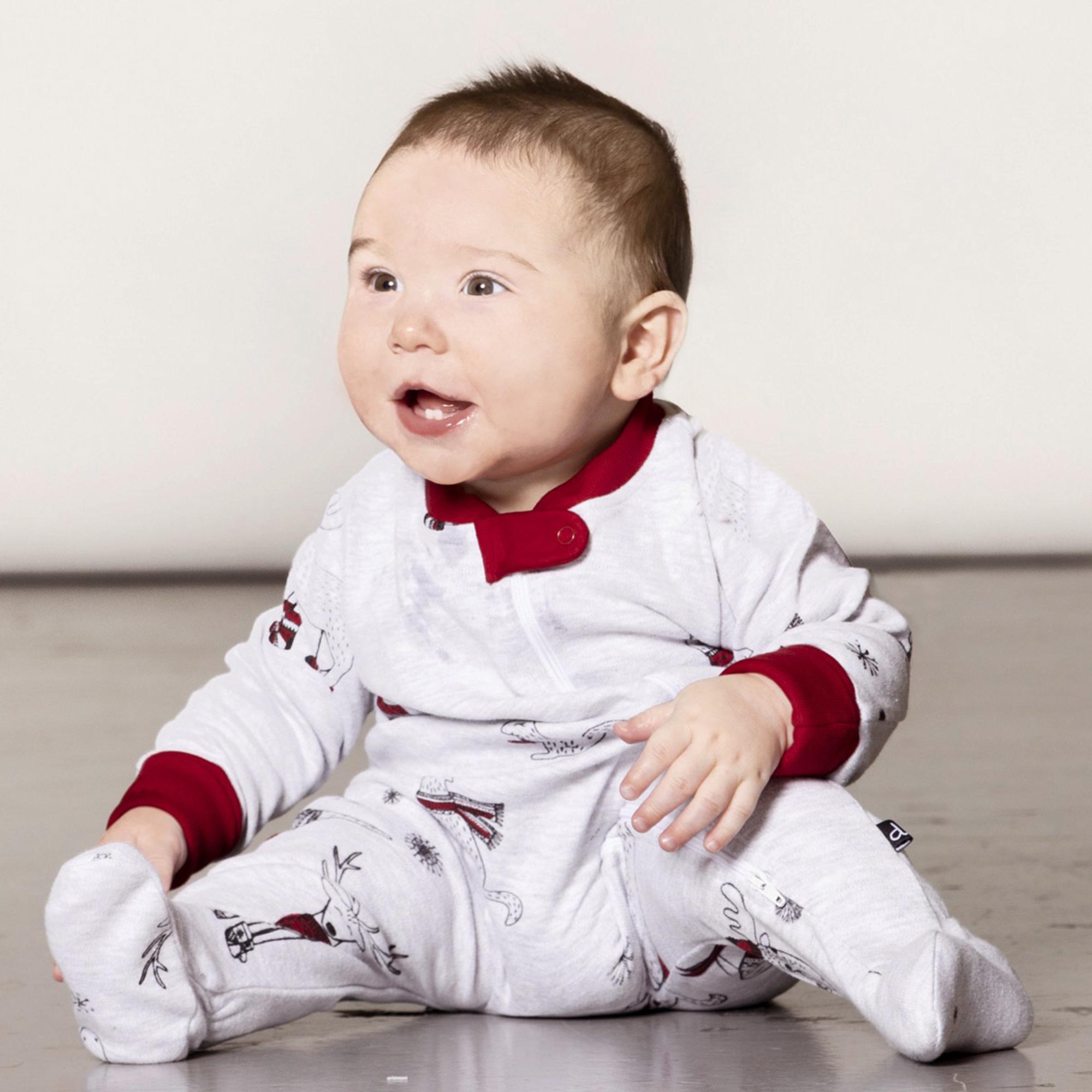 Pyjama Noël Polaire Bébé Rouge-1