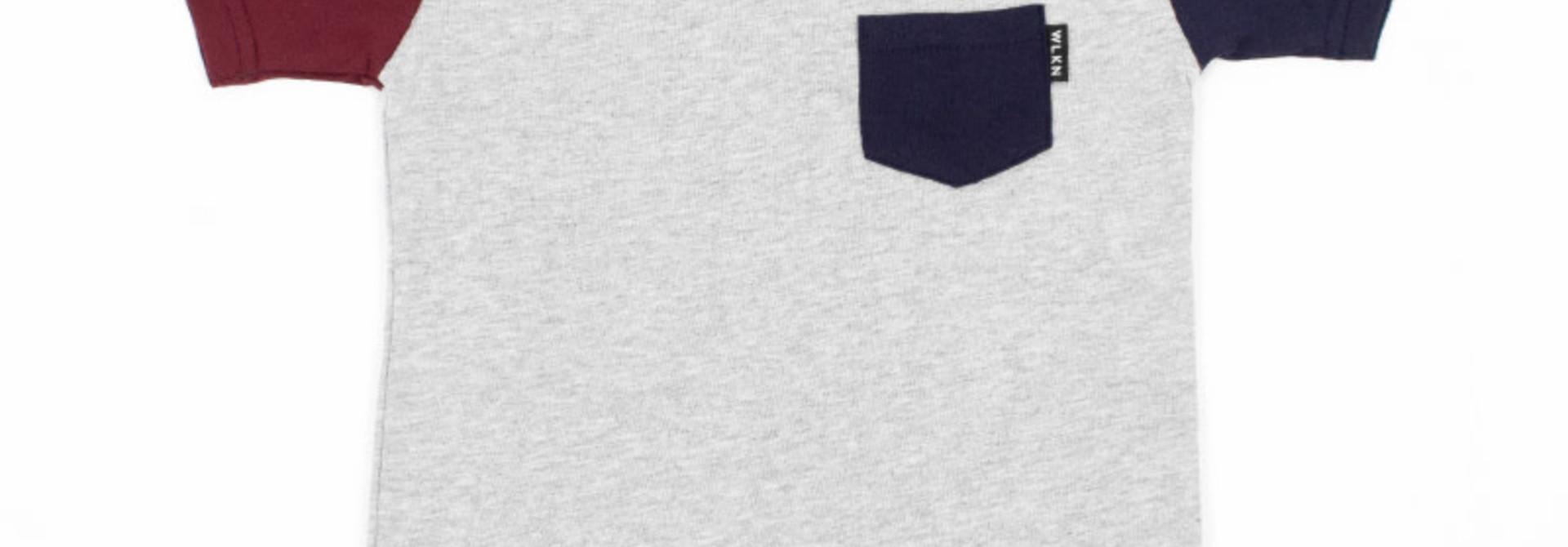 T-Shirt à poche Gris Multi
