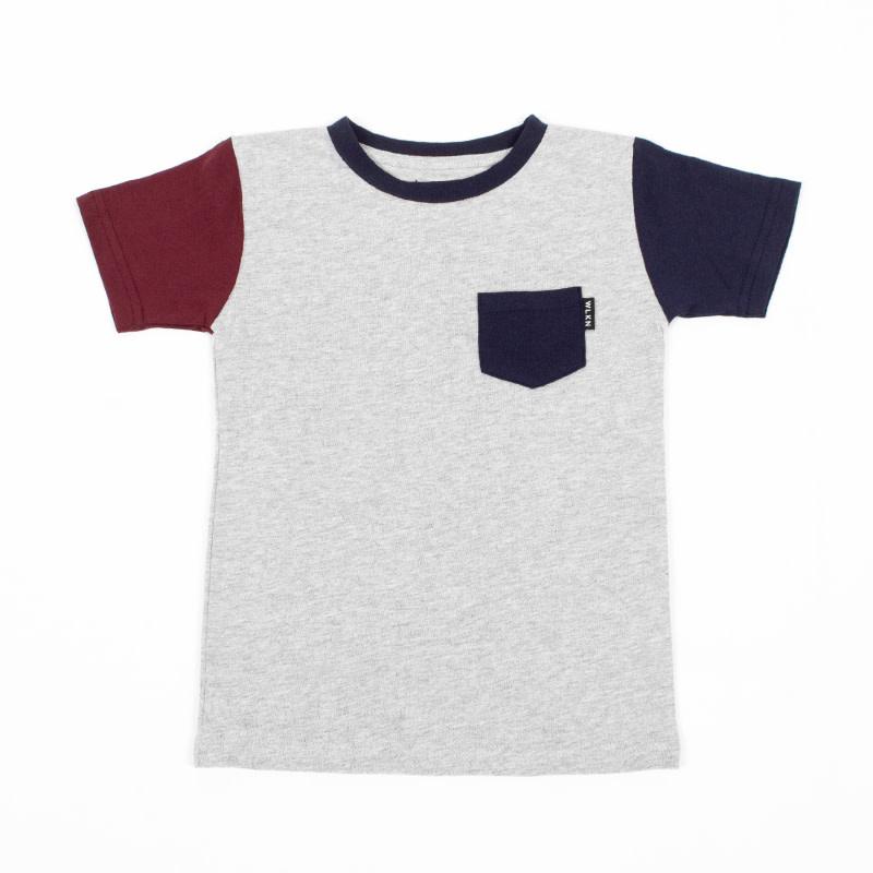 T-Shirt à poche Gris Multi-4