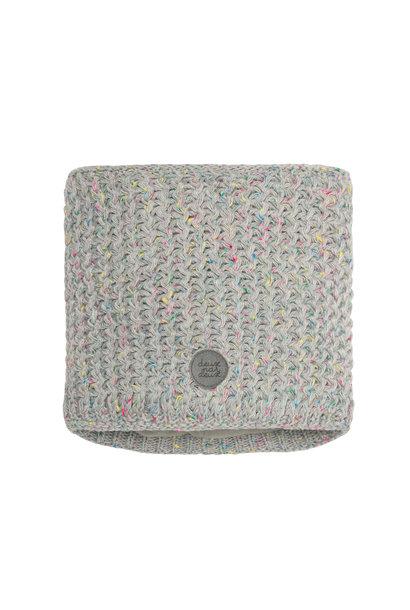Cache-cou en tricot Gris