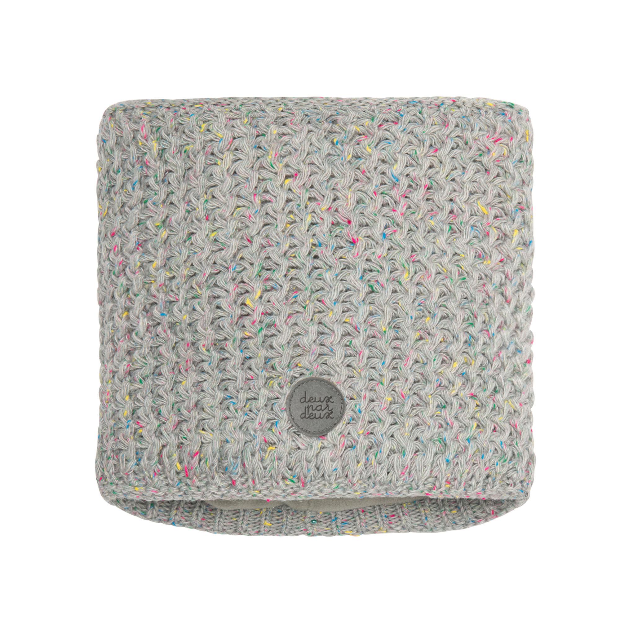 Cache-cou en tricot Gris-1