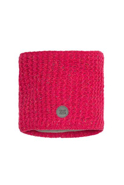 Cache-cou en tricot Fushia