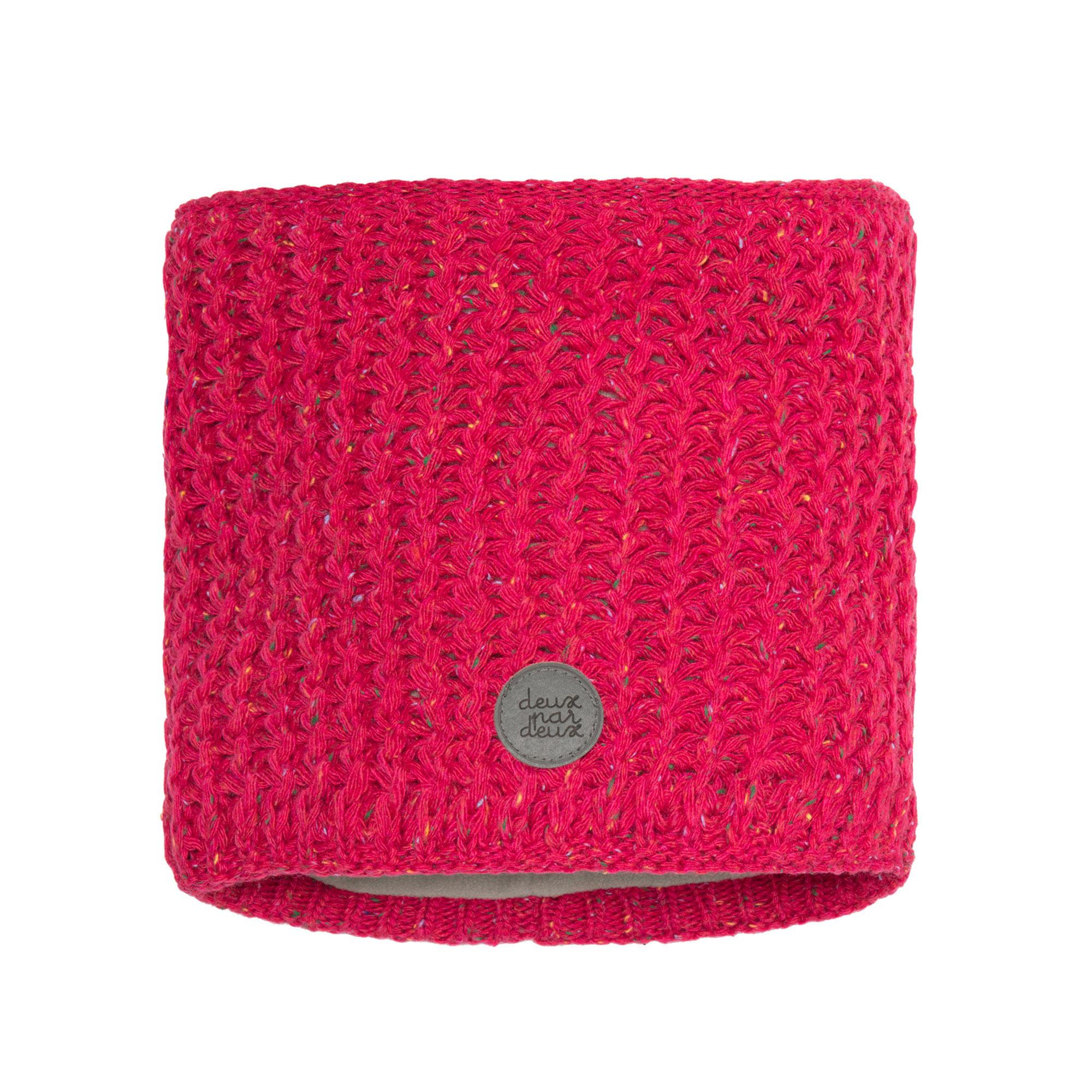 Cache-cou en tricot Fushia-3