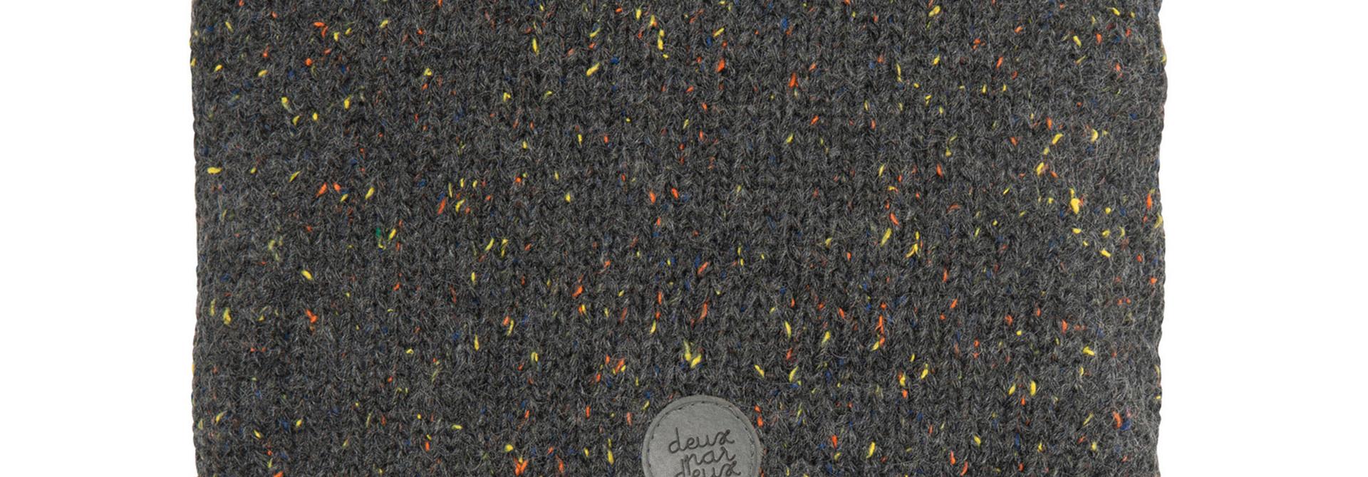 Cache-cou en tricot Gris Foncé