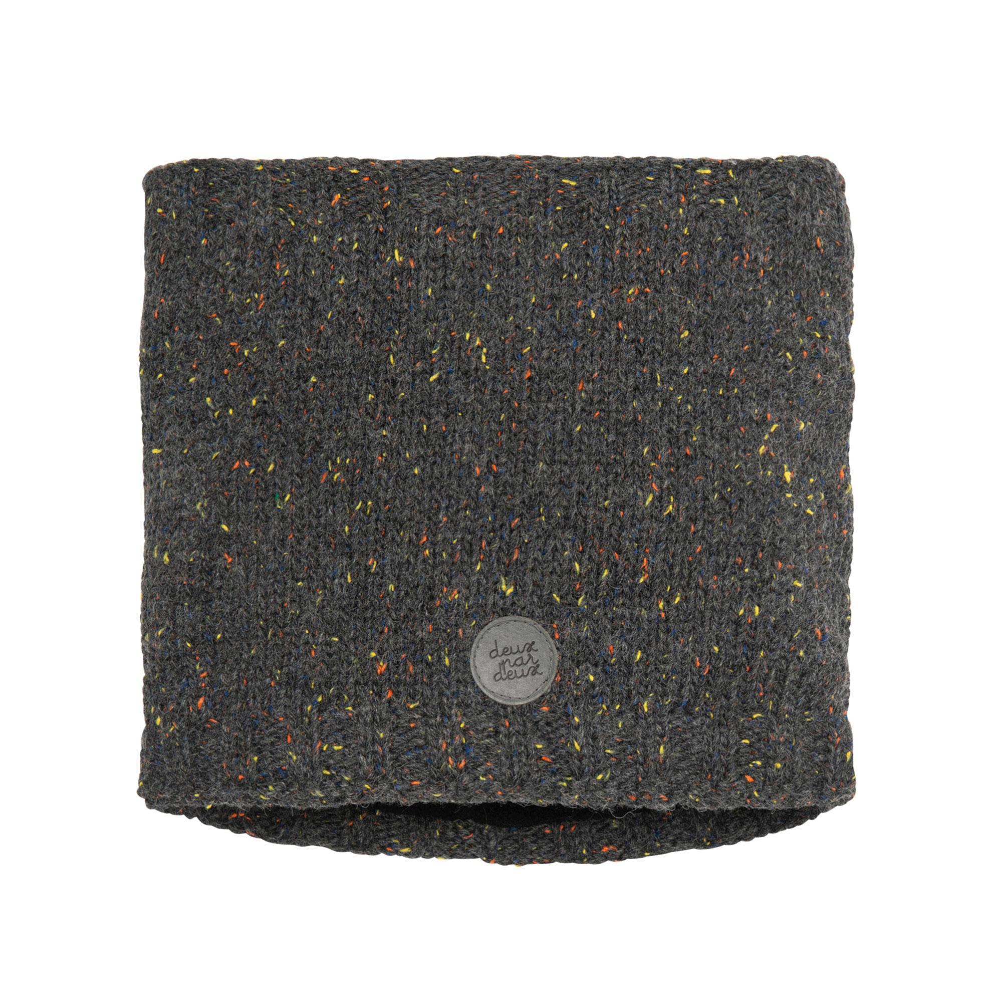 Cache-cou en tricot Gris Foncé-1