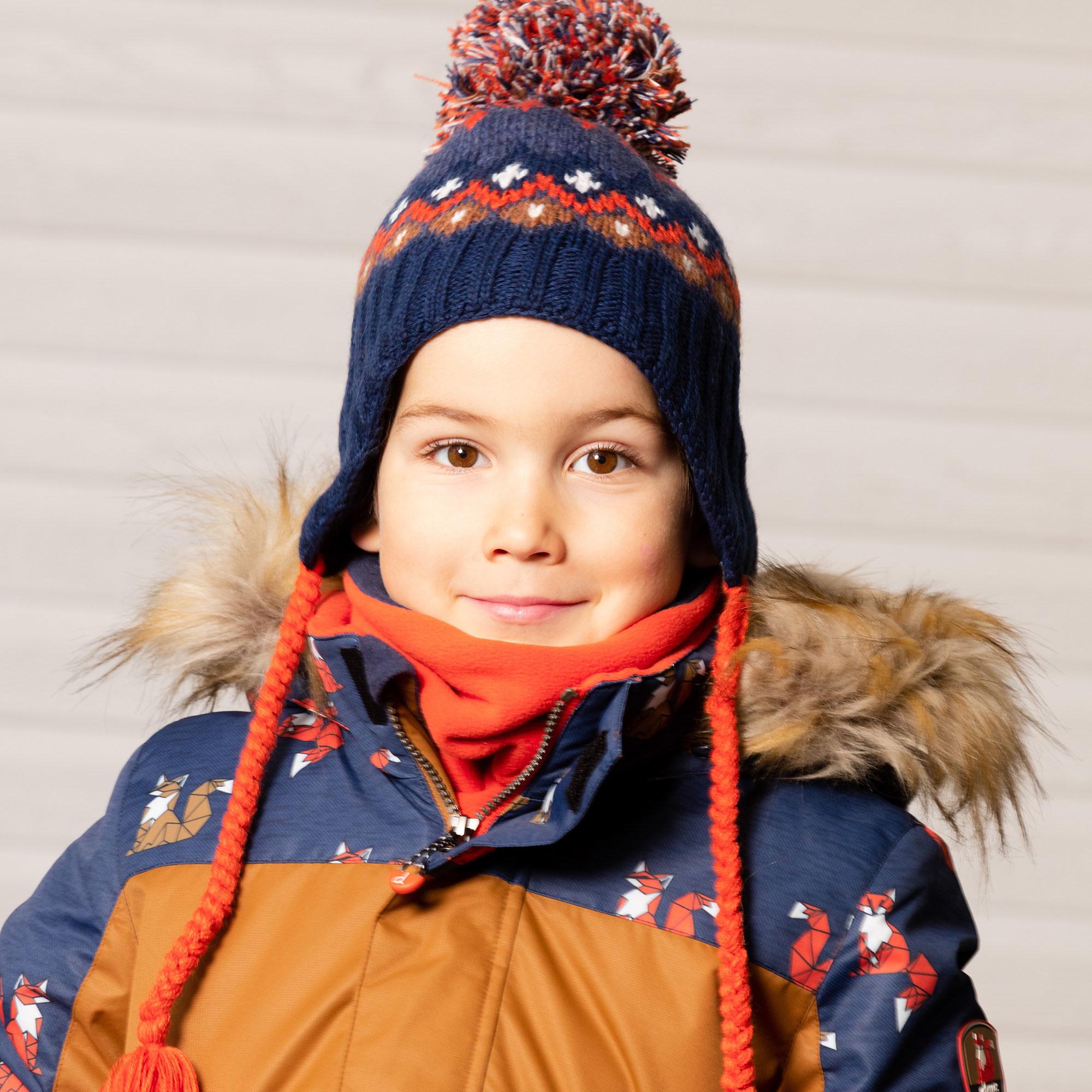 Tuque bébé en tricot Ours Polaire-8