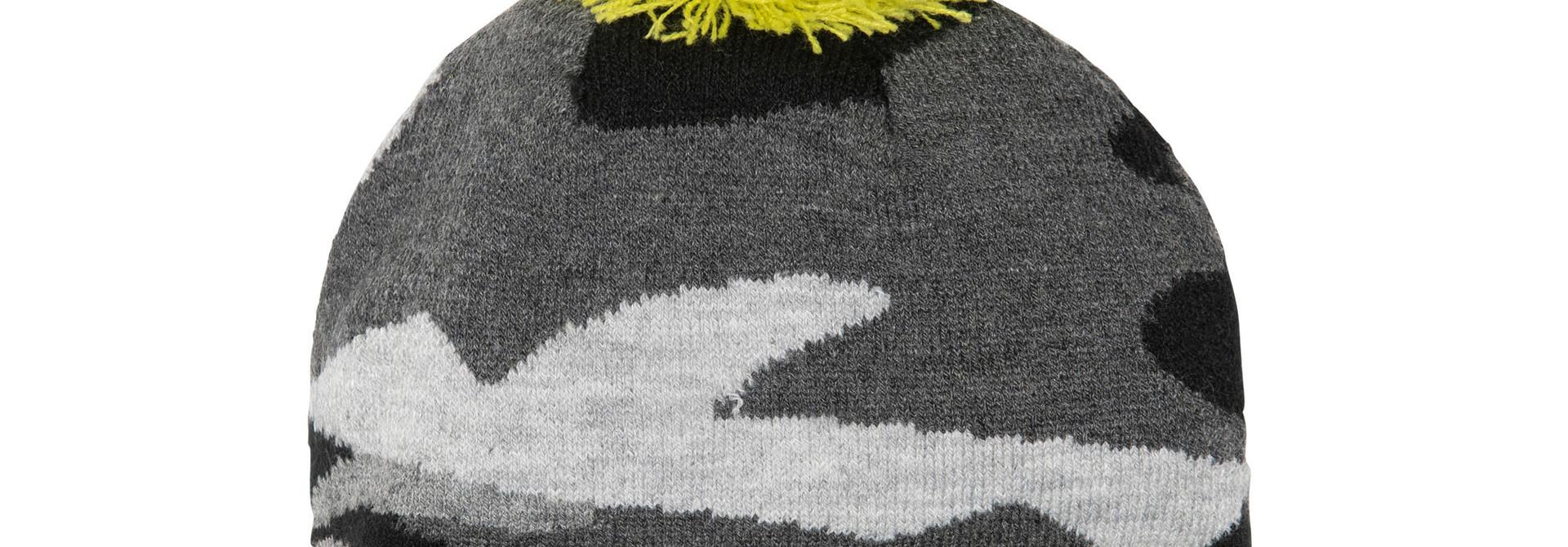 Tuque en tricot Camo Jaune