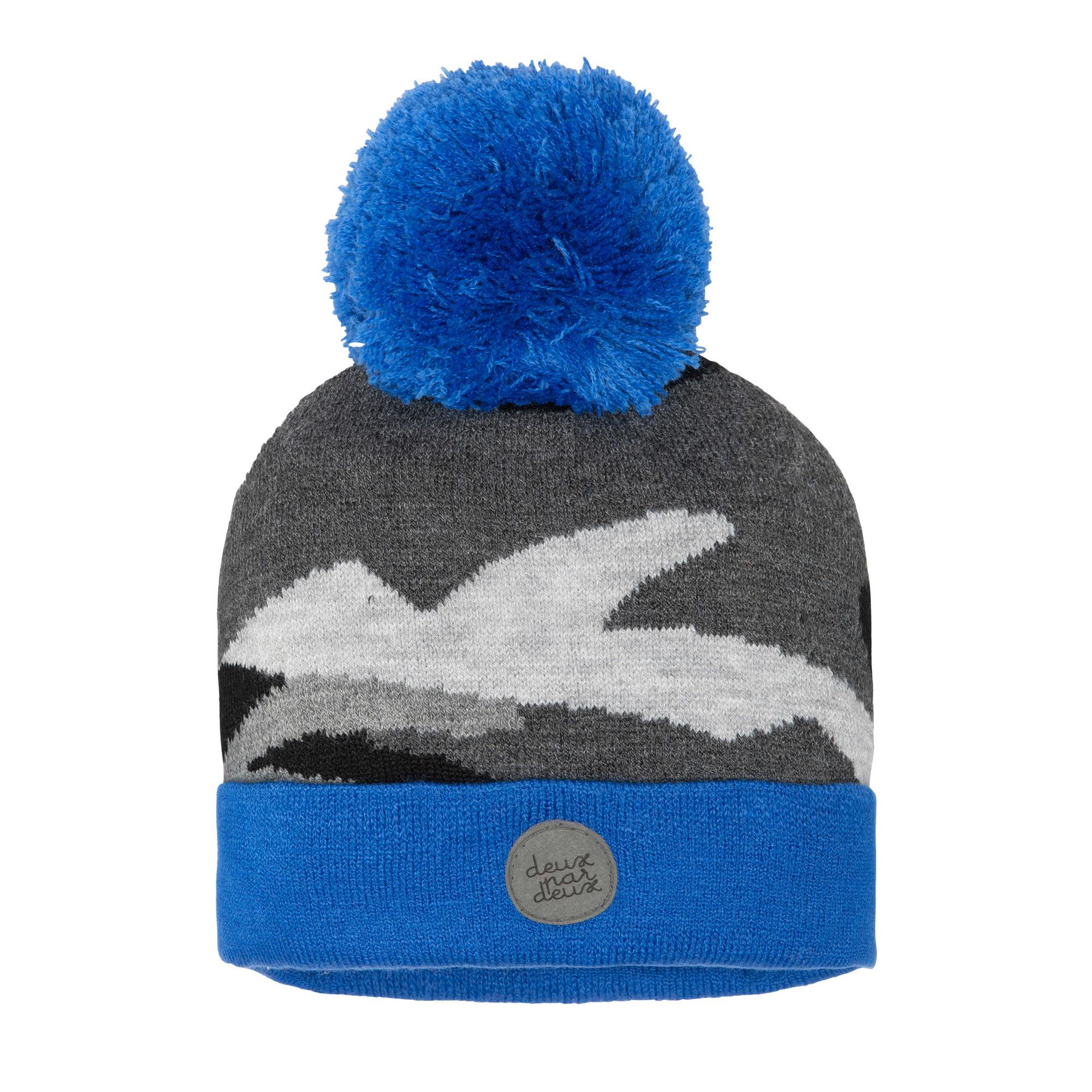 Tuque en tricot Camo Bleu-1