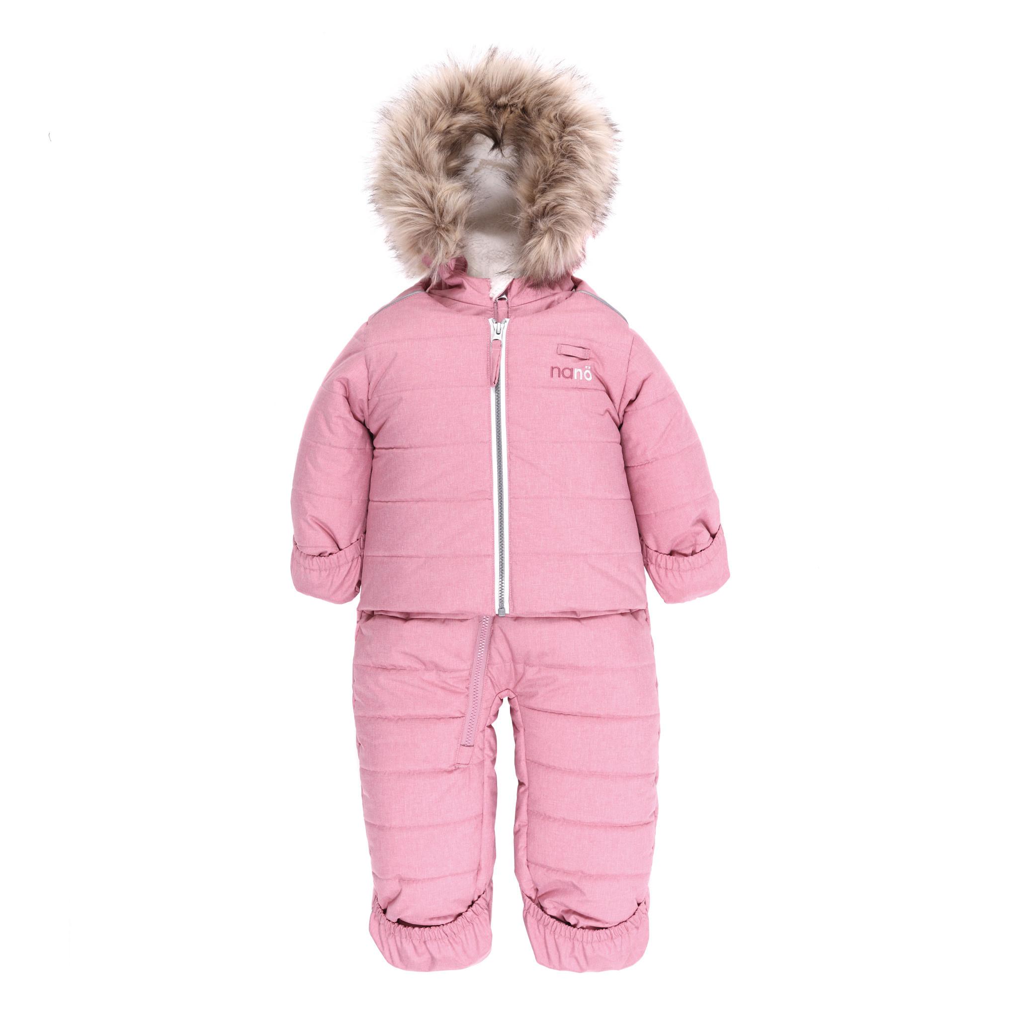 Habit de neige bébé - Mont Hibou Rose-1