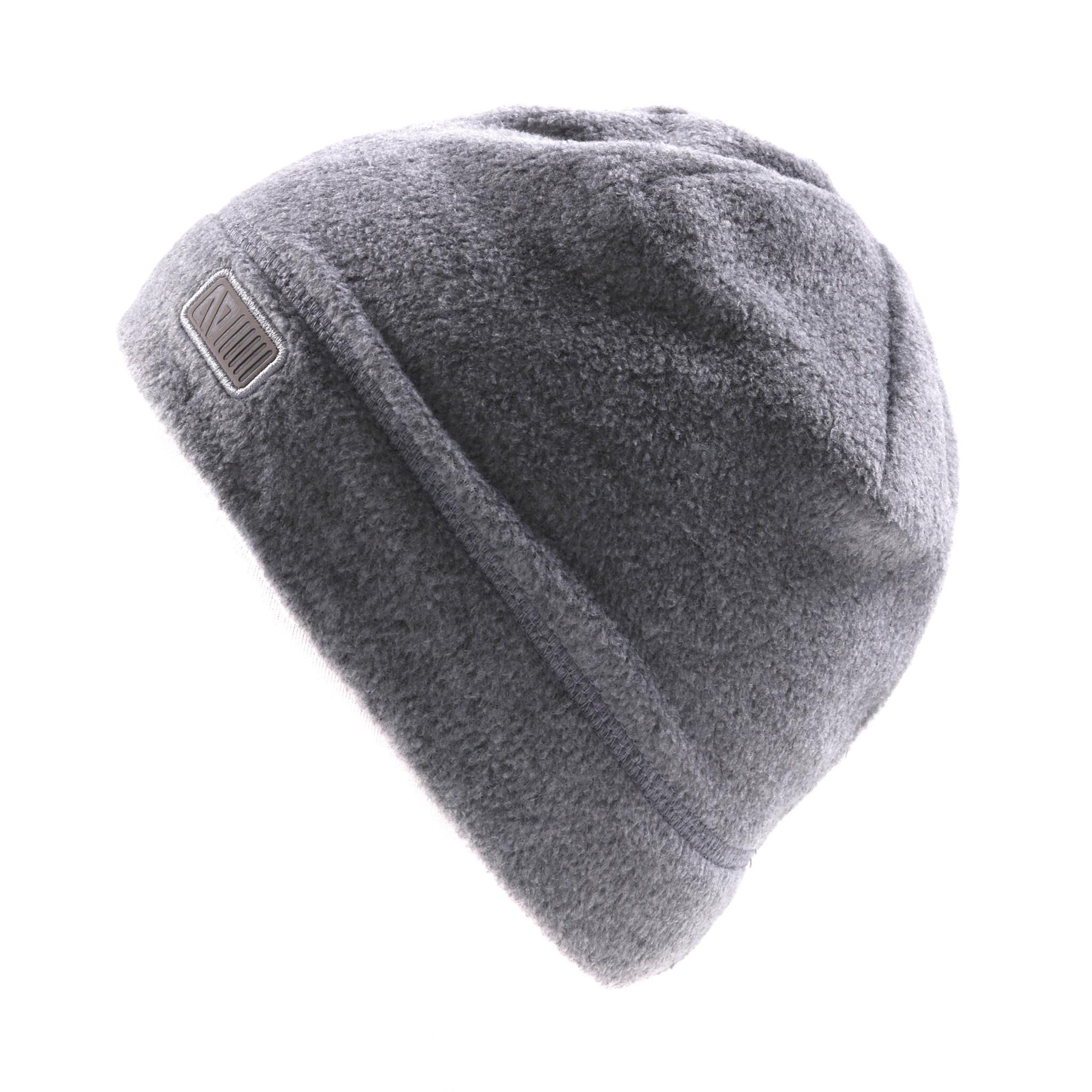 Tuque en polar sans oreilles Grise-1