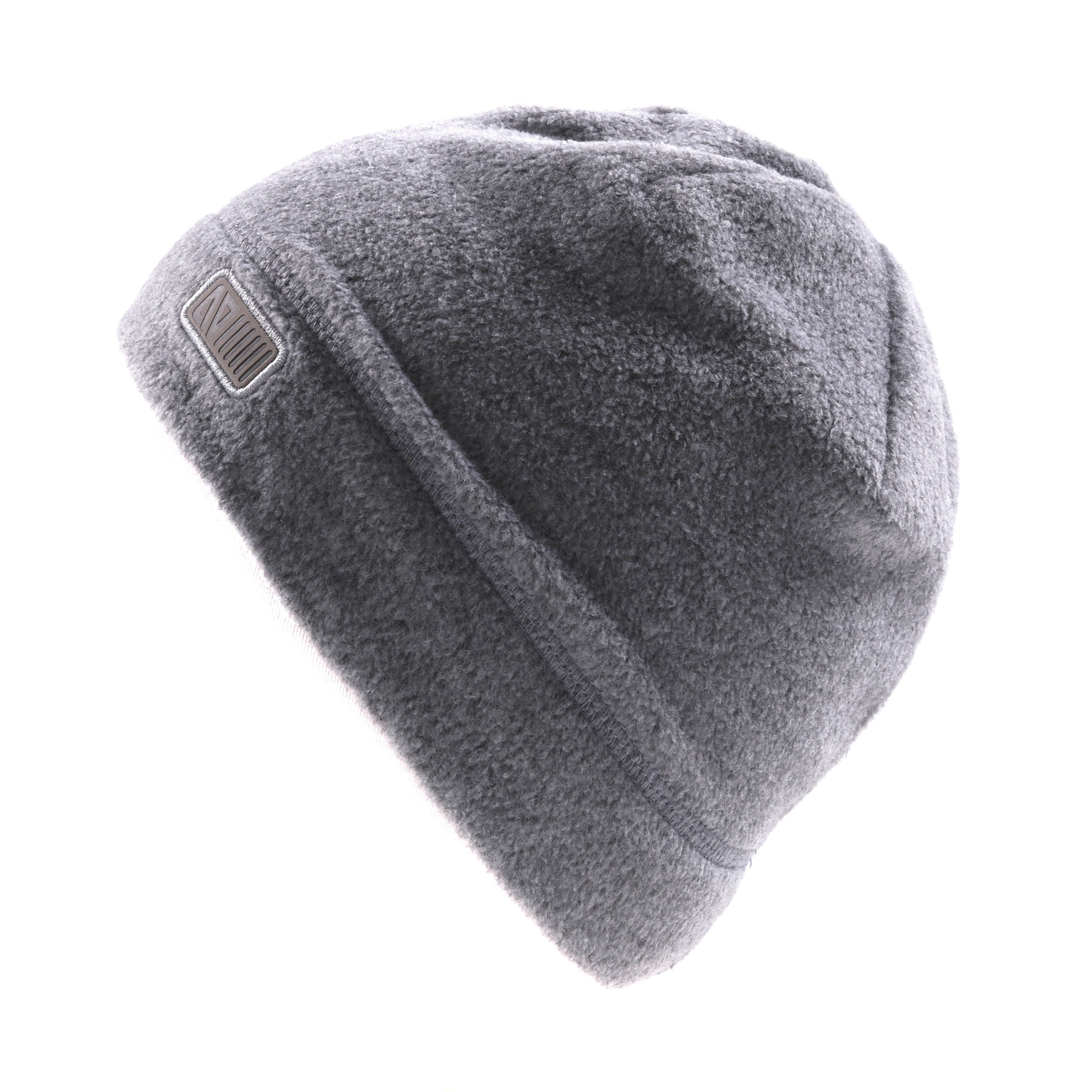 Tuque en polar sans oreilles Grise-2