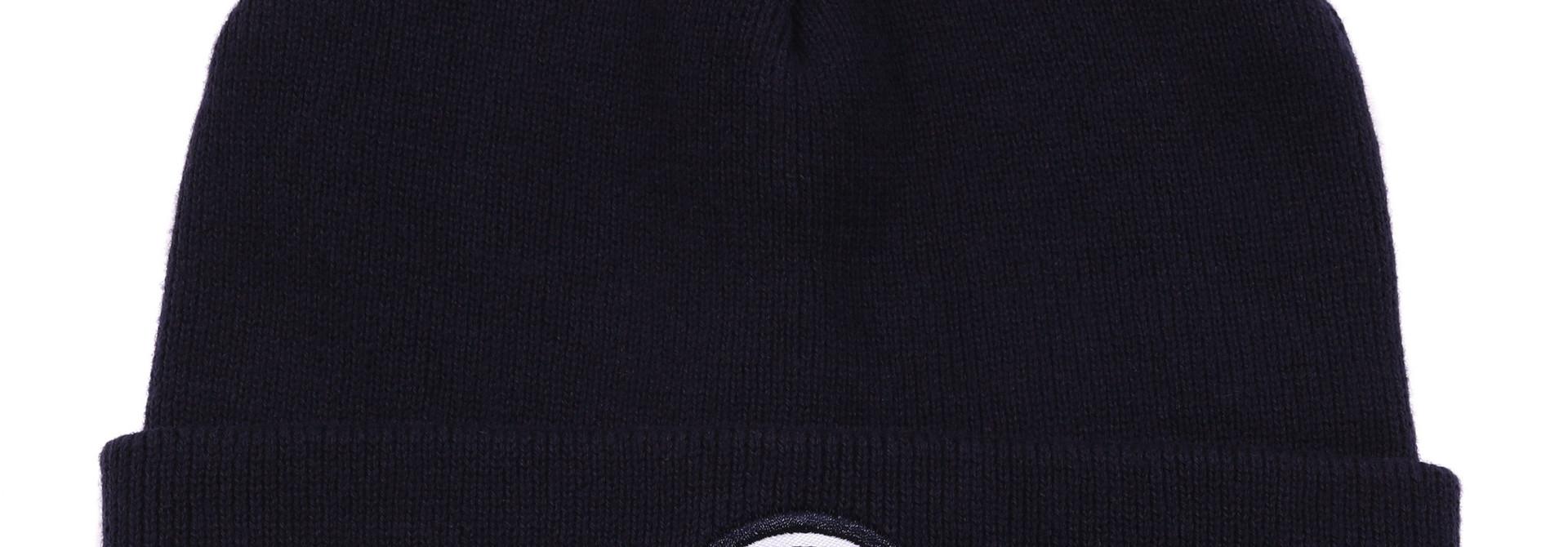 Tuque bébé en tricot Marine