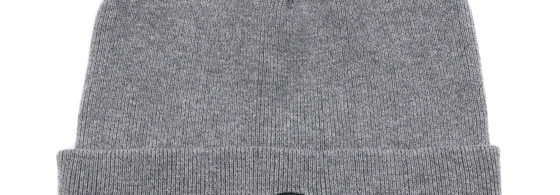 Tuque bébé en tricot Grise