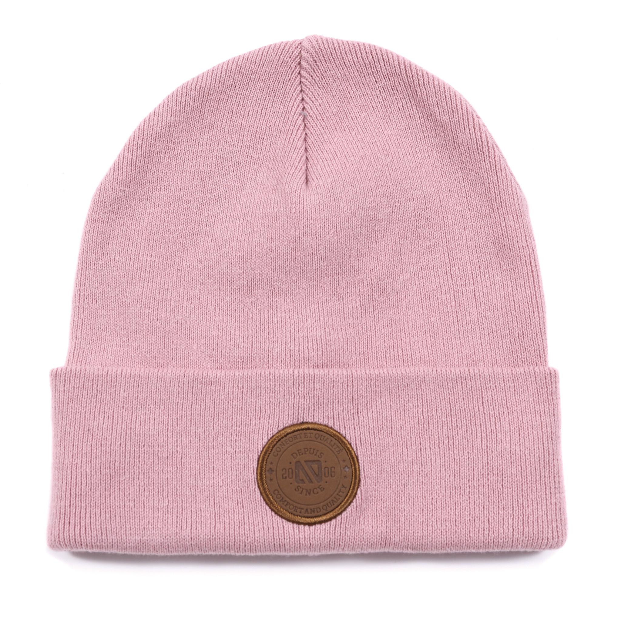 Tuque en tricot Rose-1