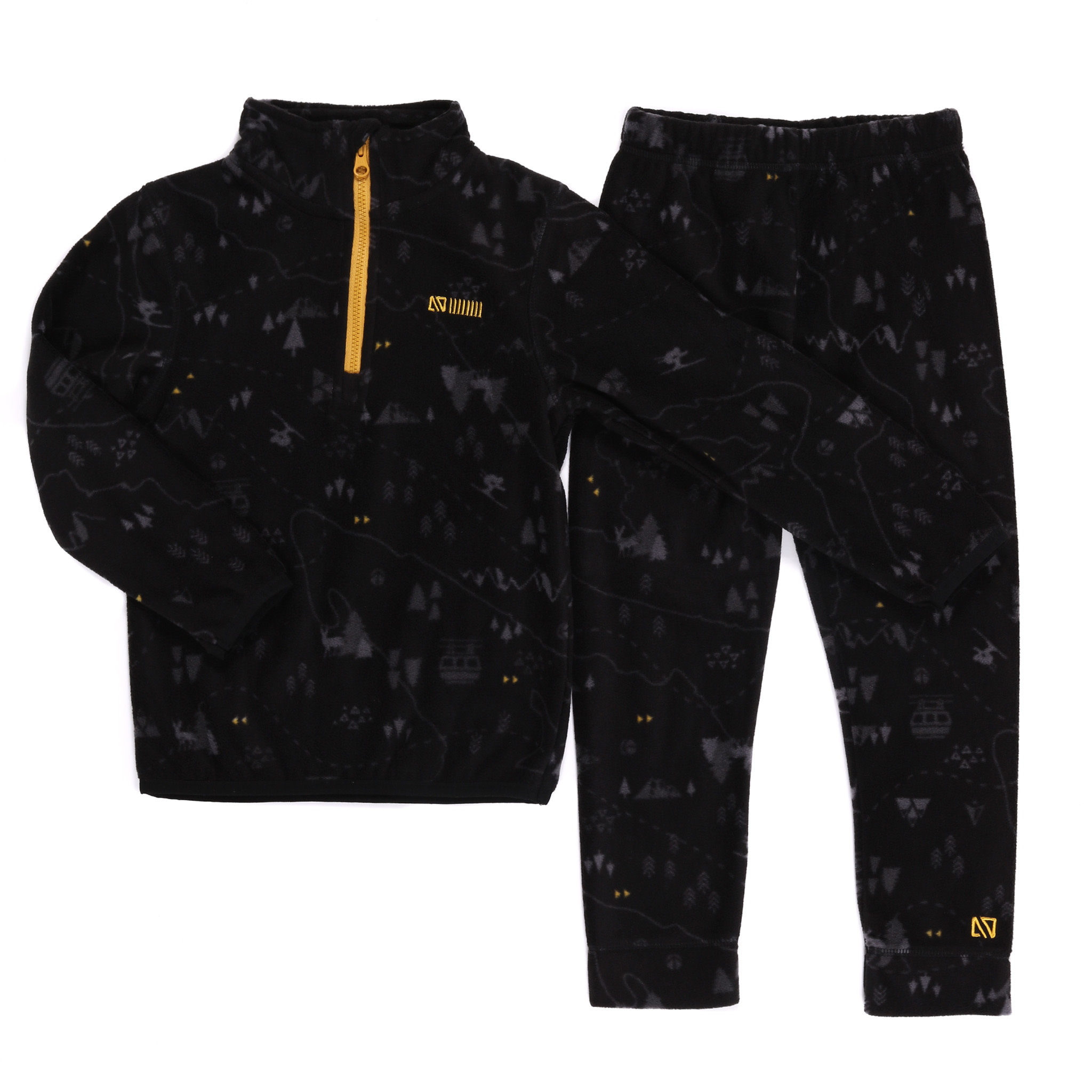Sous-vêtement en micropolar Noir Ski-2
