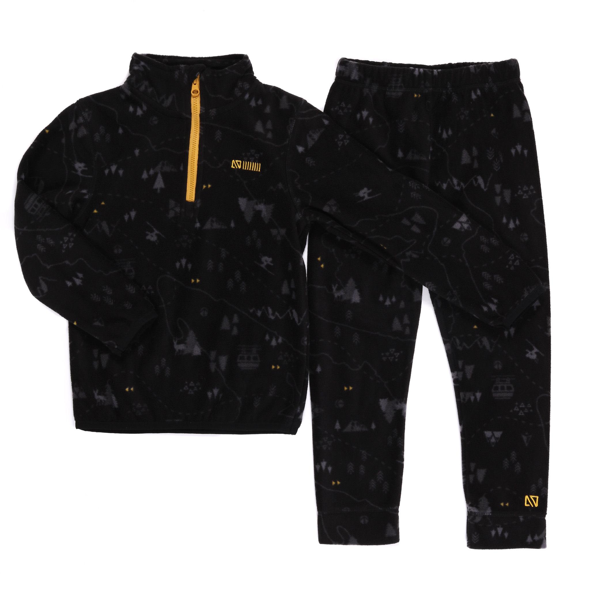 Sous-vêtement en micropolar Noir Ski-4