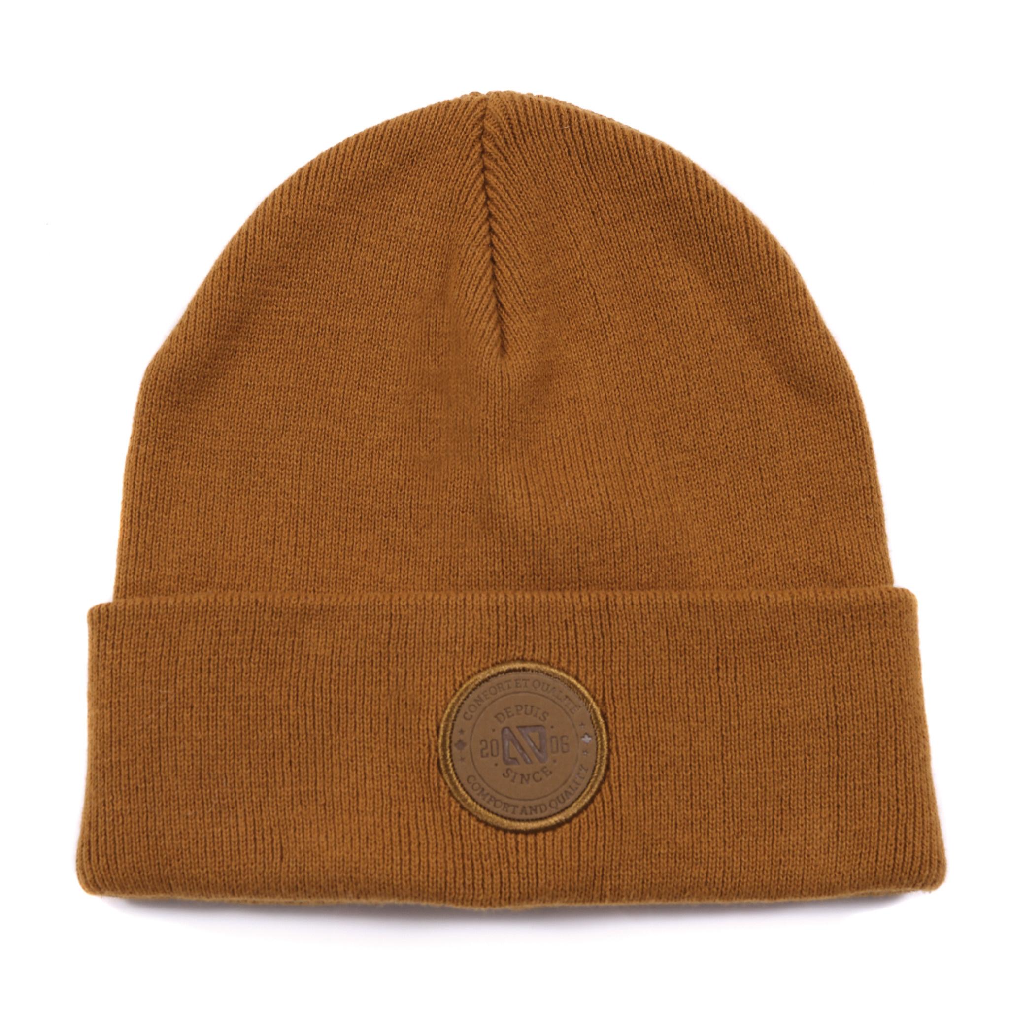 Tuque en tricot Taupe-1