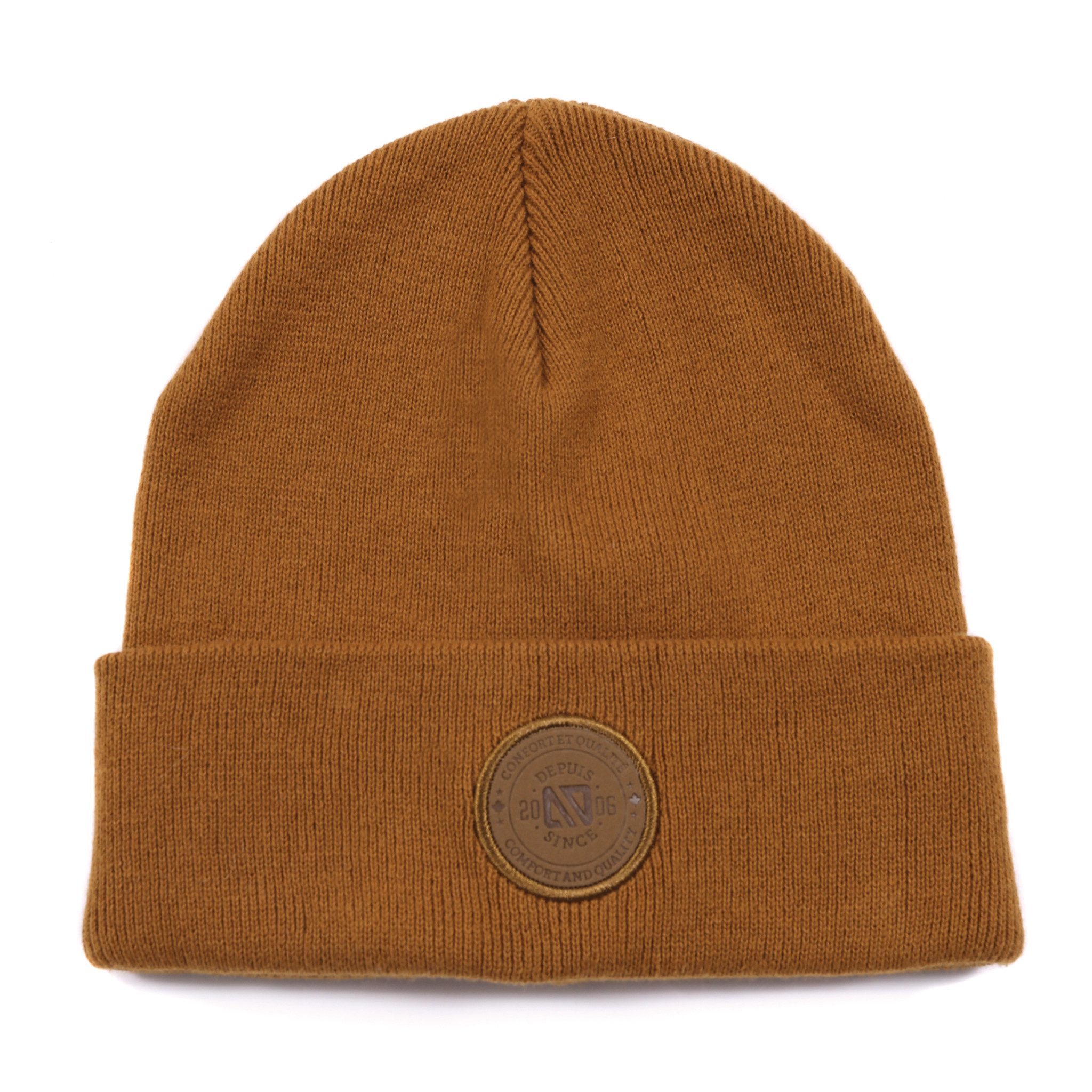 Tuque en tricot Taupe-2
