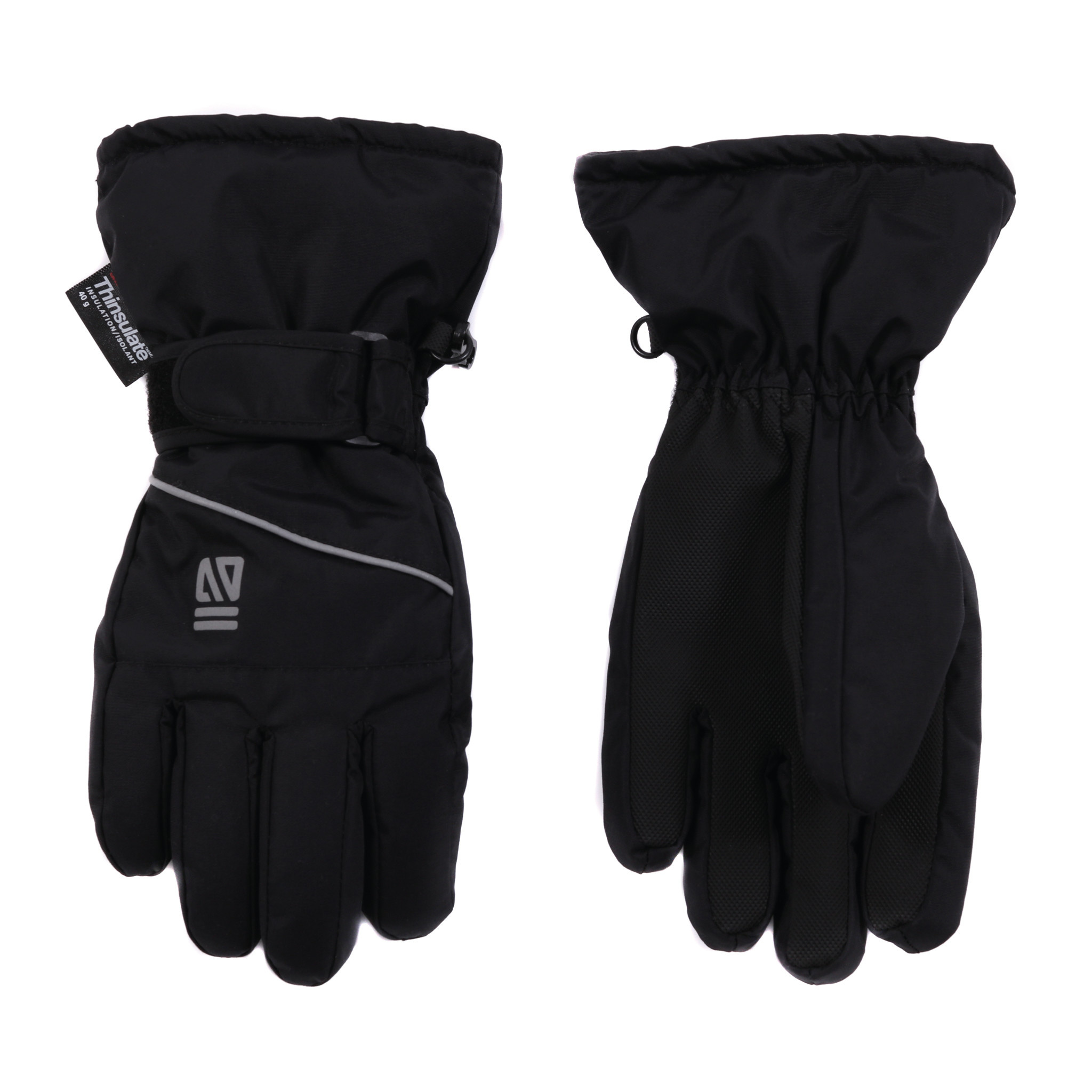 Gants d'hiver Noir-2