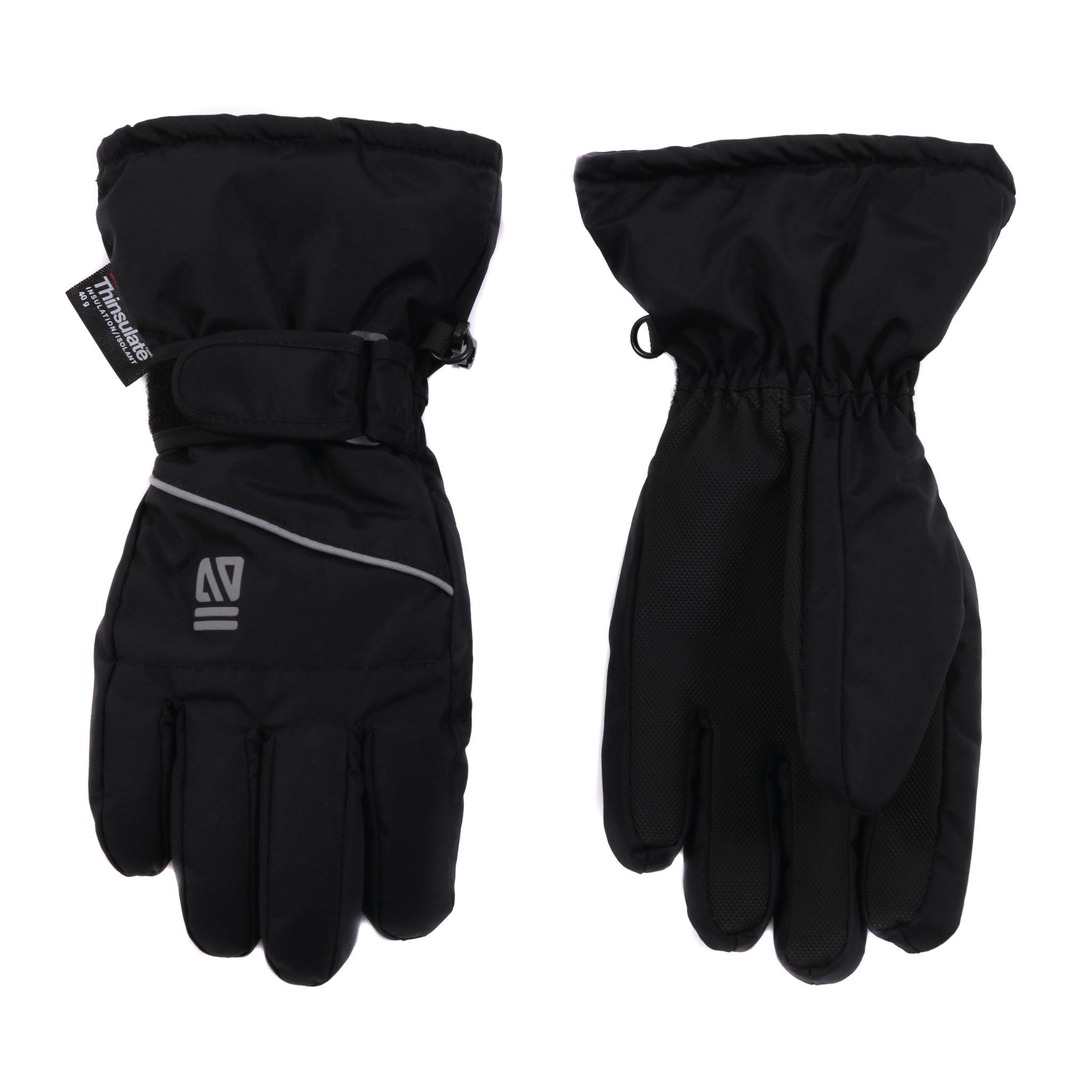 Gants d'hiver Noir-4