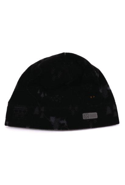 Tuque en polar avec oreilles Noire Ski