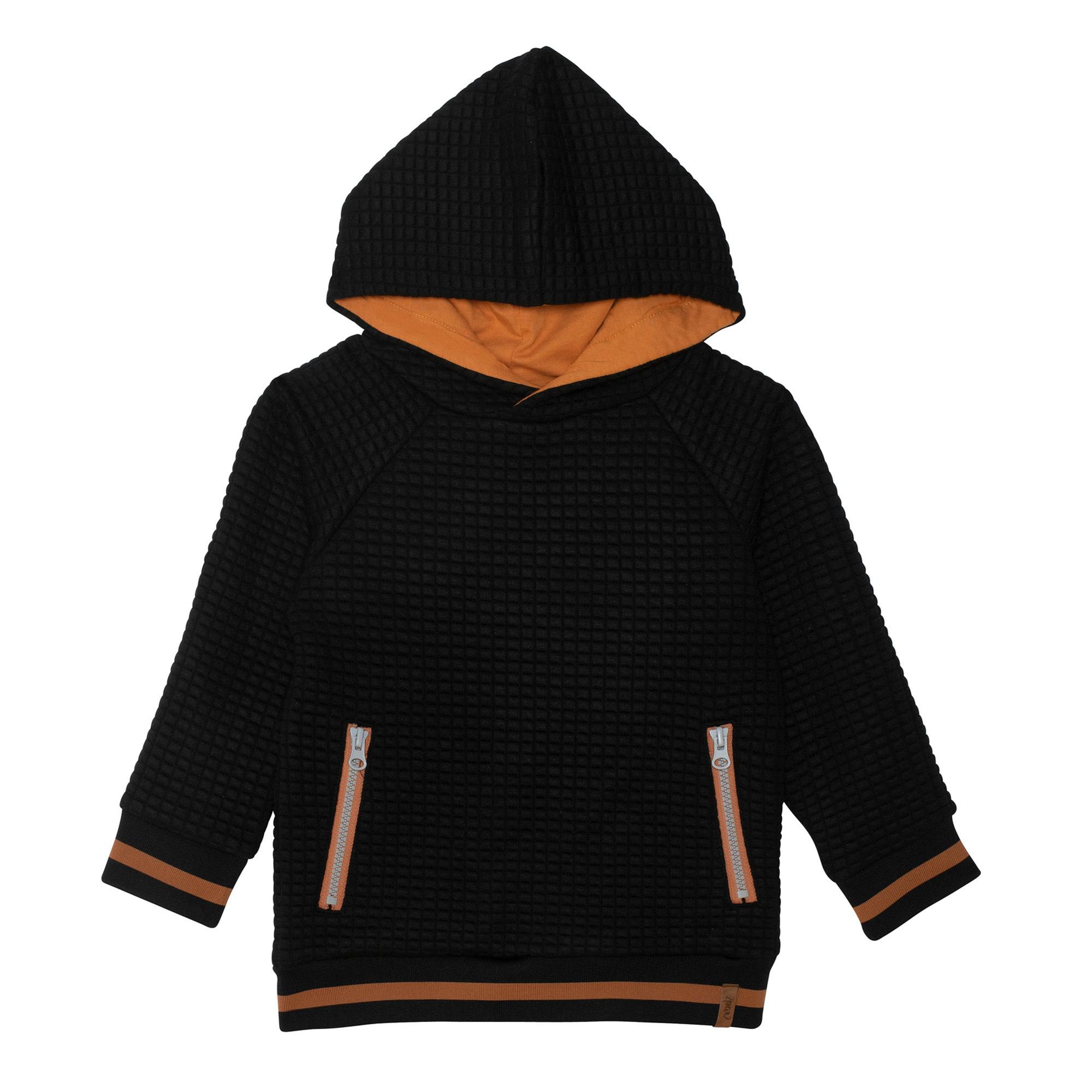 Hoodie Noir Taupe-5