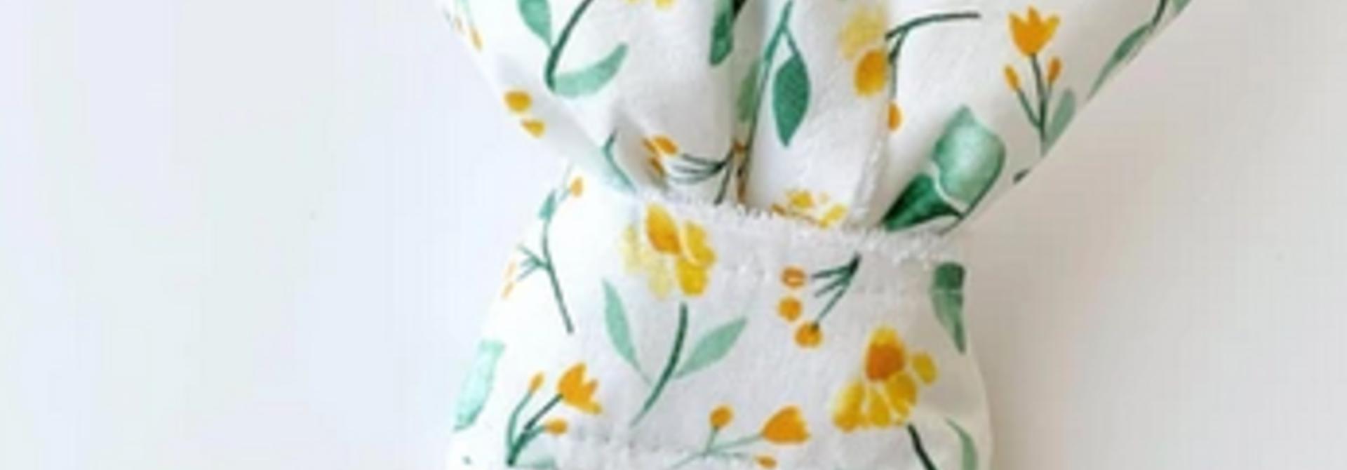 Hochet Oreilles de Lapins - Fleurs Jaunes