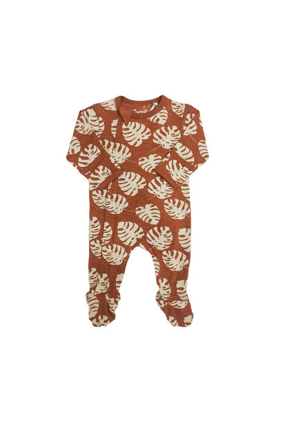Pyjama Zipper - Monstera Ambre