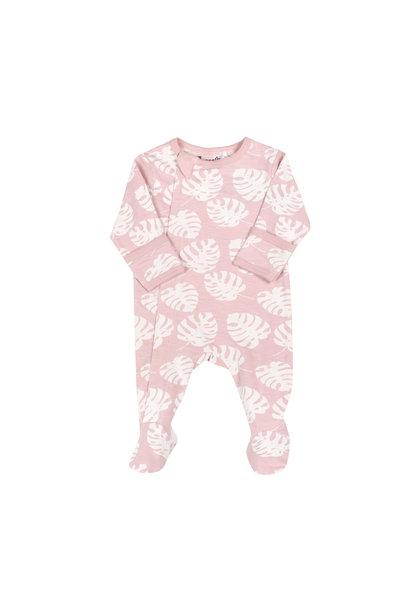 Pyjama Zipper - Monstera Pêche