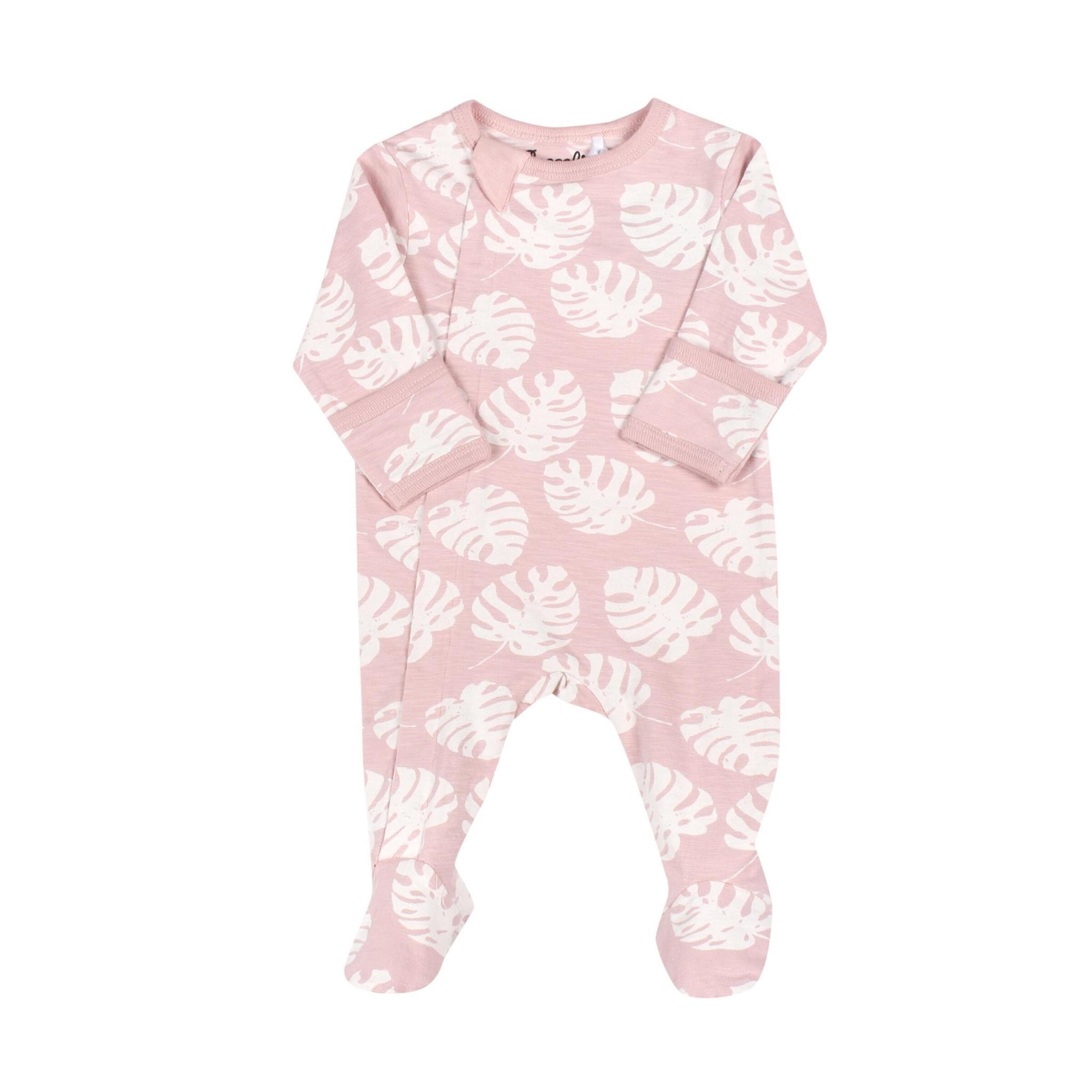 Pyjama Zipper - Monstera Pêche-1