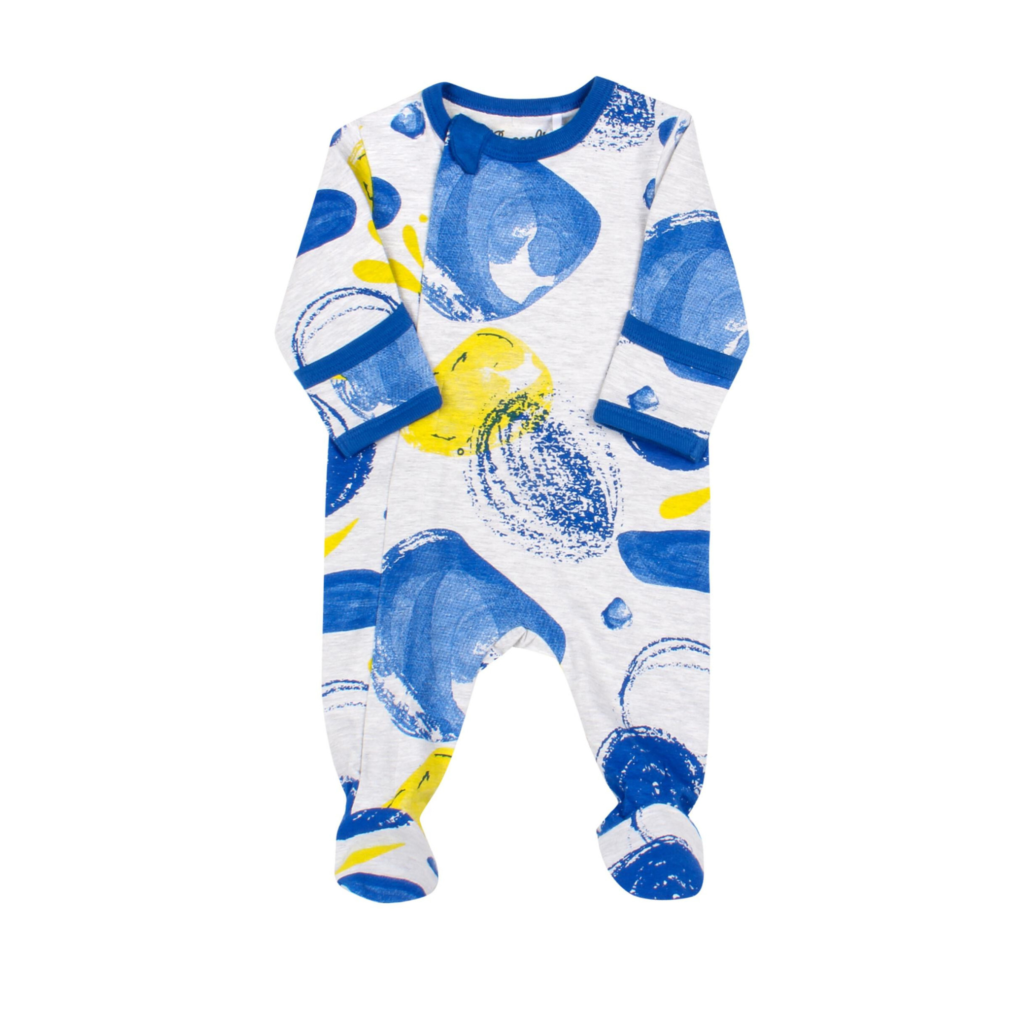 Pyjama Zipper - Tempête Bleu-1