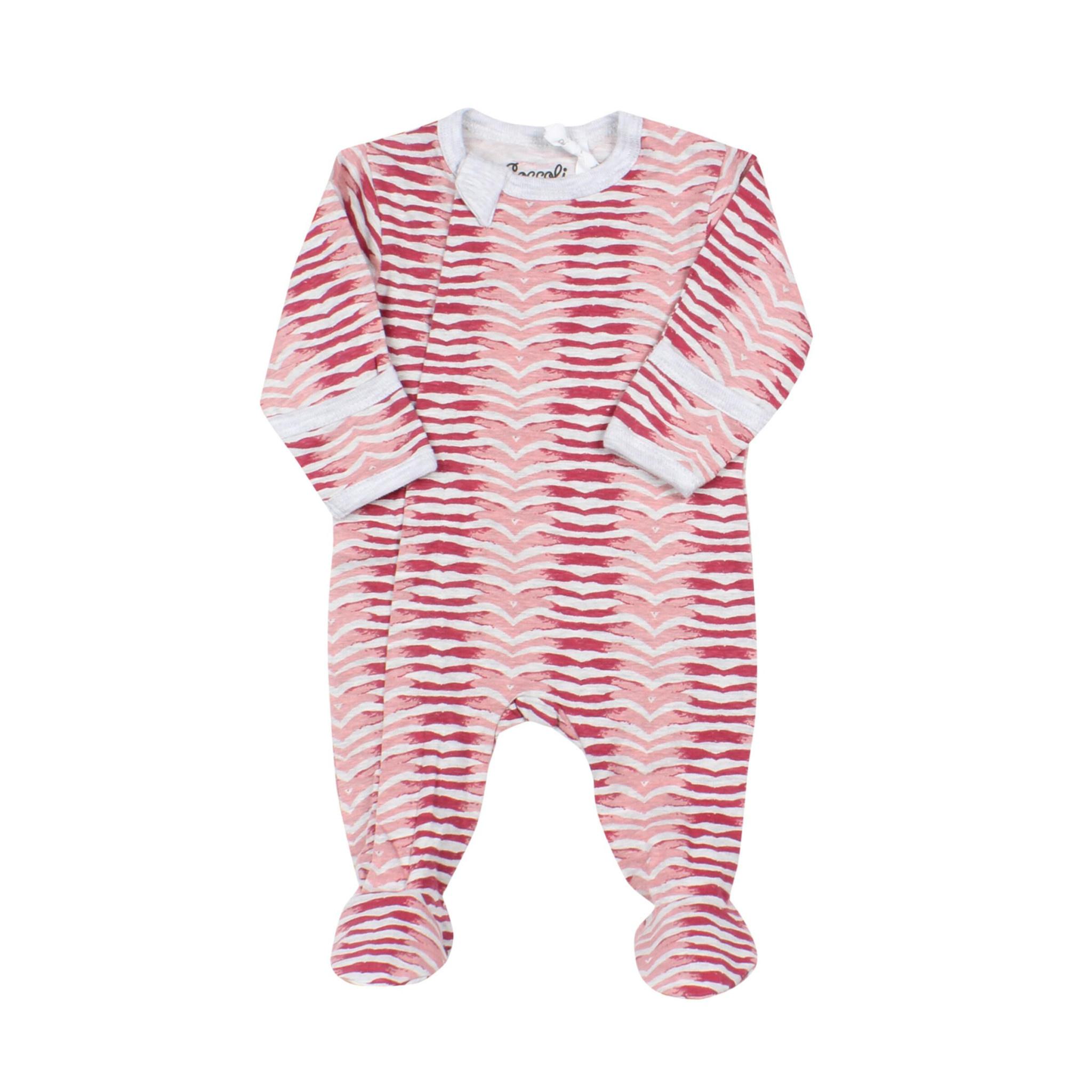 Pyjama Zipper - ZigZag Grenat-1