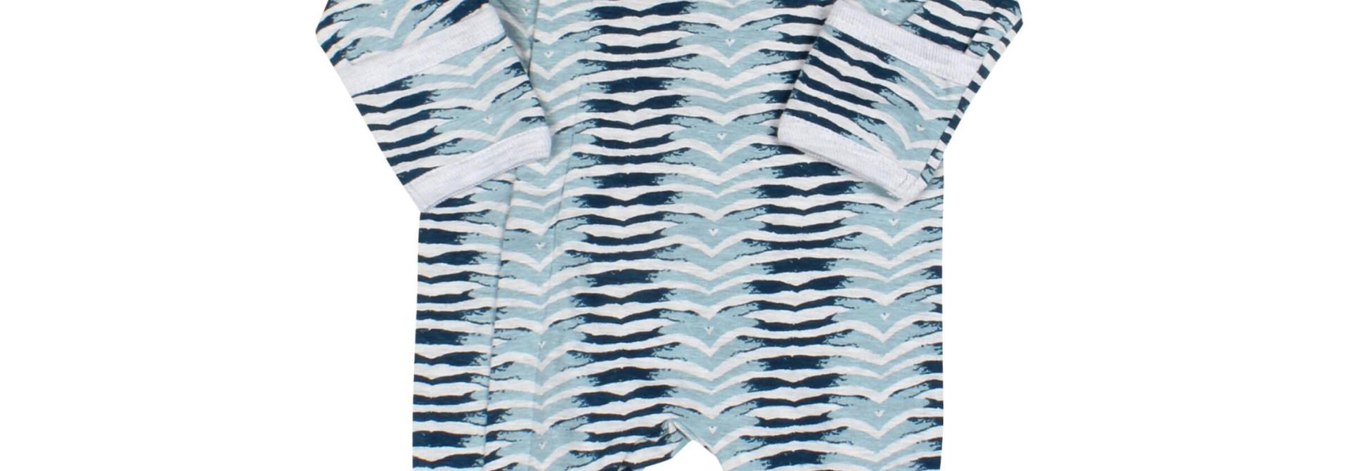 Pyjama Zipper - ZigZag Bleu