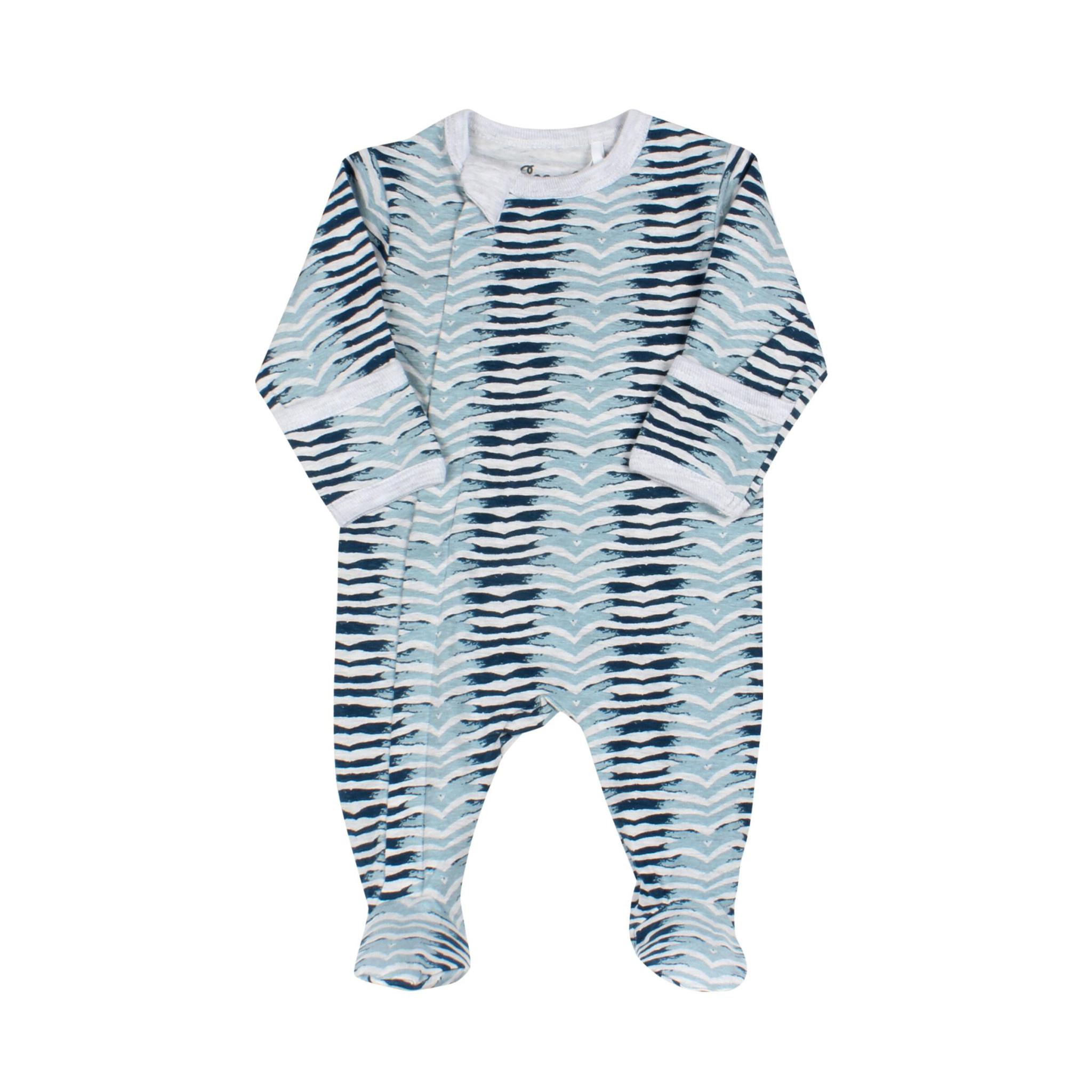 Pyjama Zipper - ZigZag Bleu-1