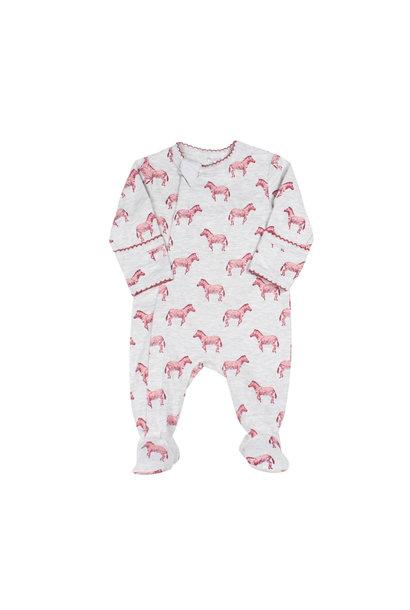 Pyjama Zipper - Zébre Grenat