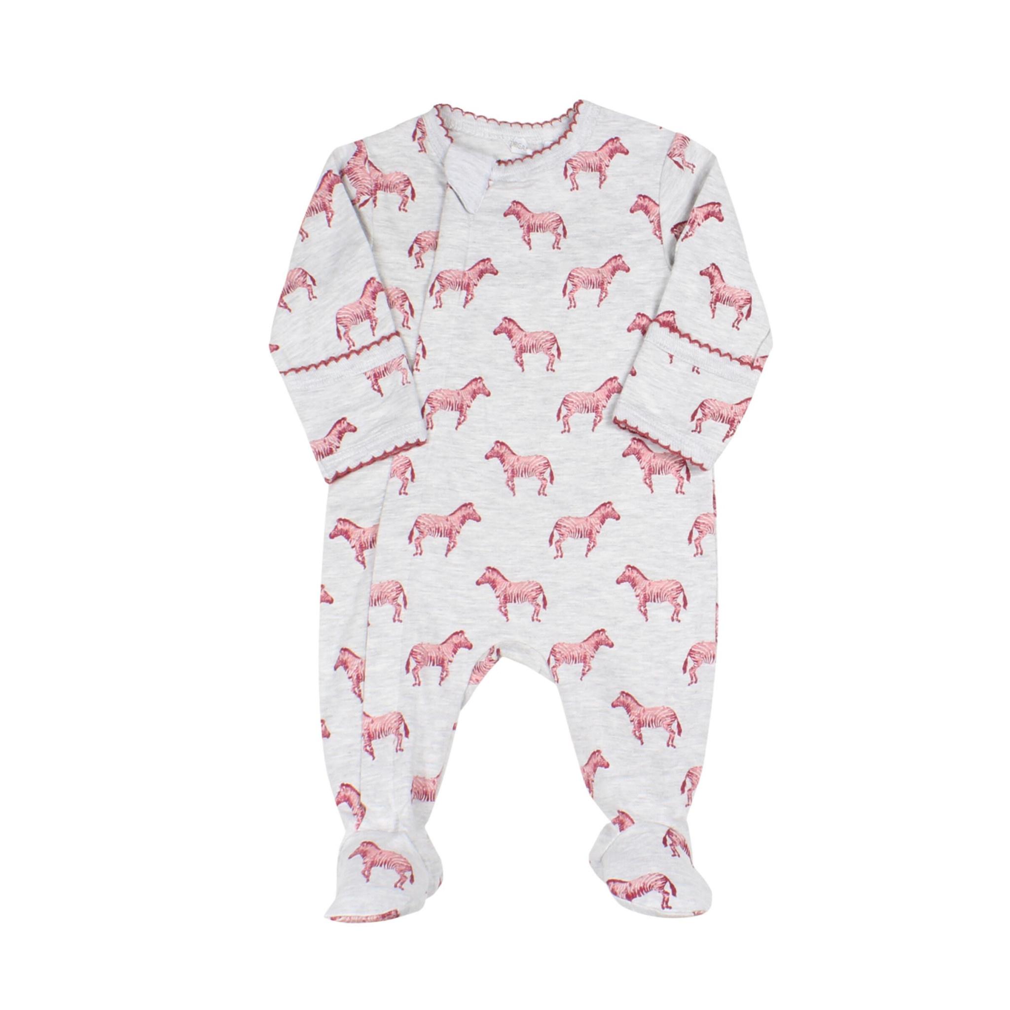 Pyjama Zipper - Zébre Grenat-1