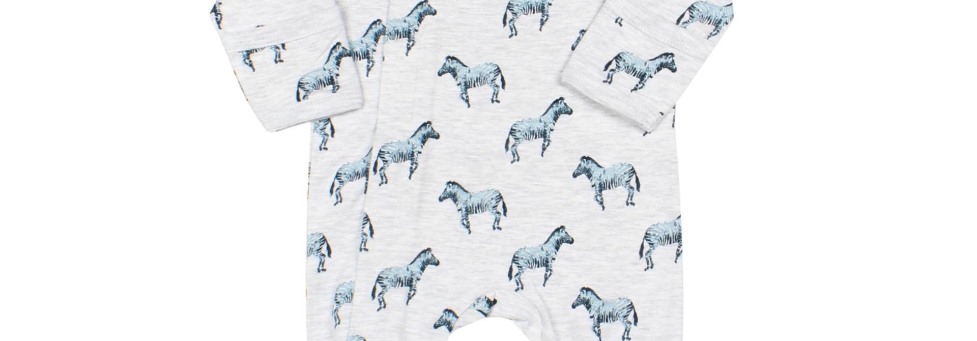 Pyjama Zipper - Zébre Bleu
