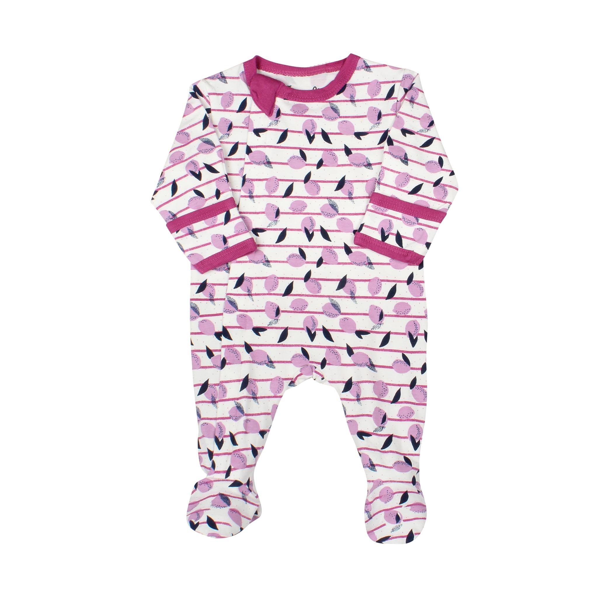 Pyjama Zipper - Limonade Rose-1
