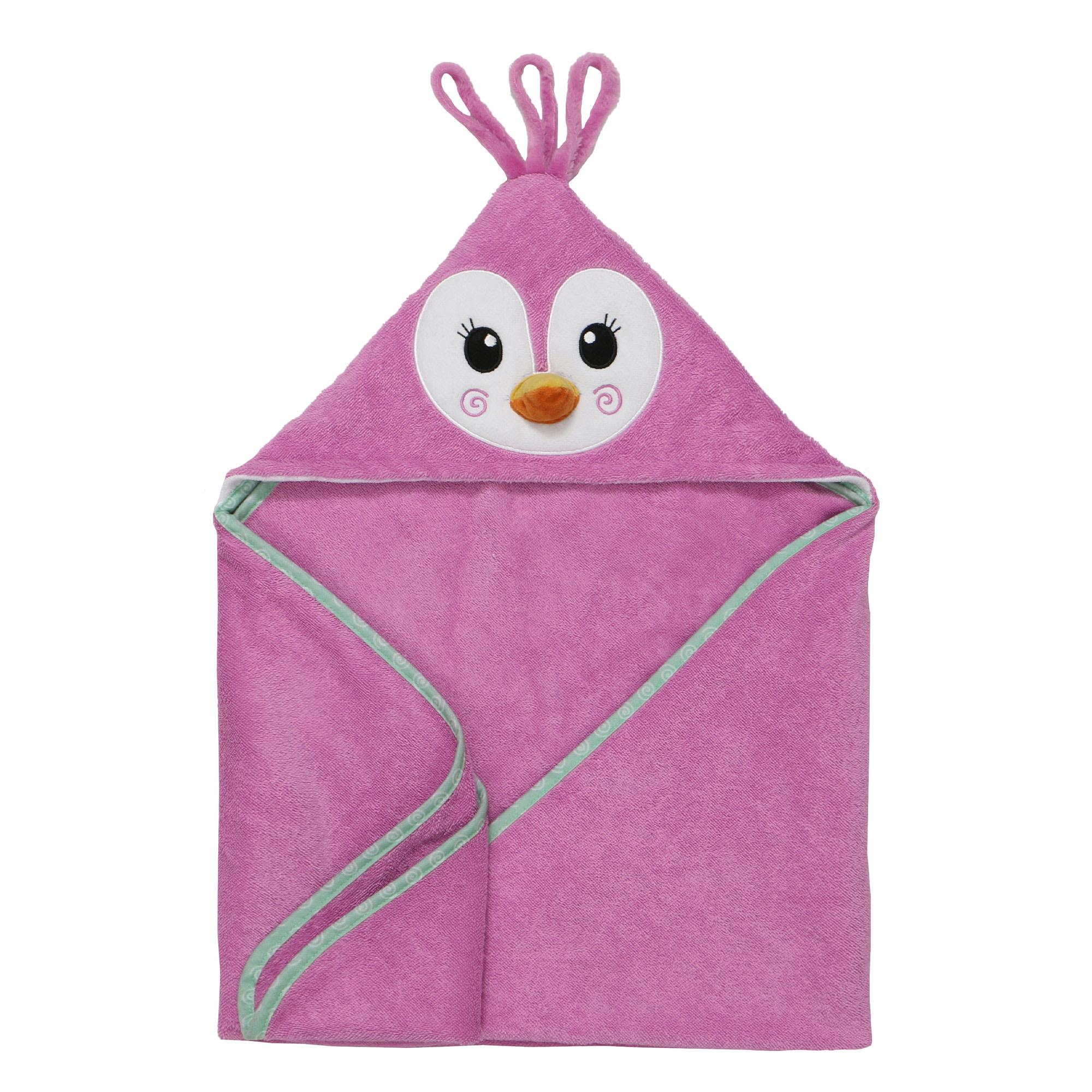 Sortie de bain pour bébés Penny le Pingouin-1