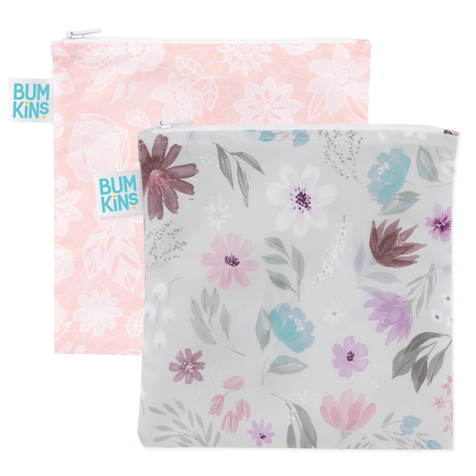 Paquet de 2 grand sacs à collation  Floral-1