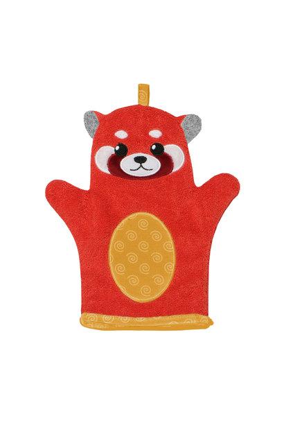 Mitaine pour le bain - Remi Panda Rouge