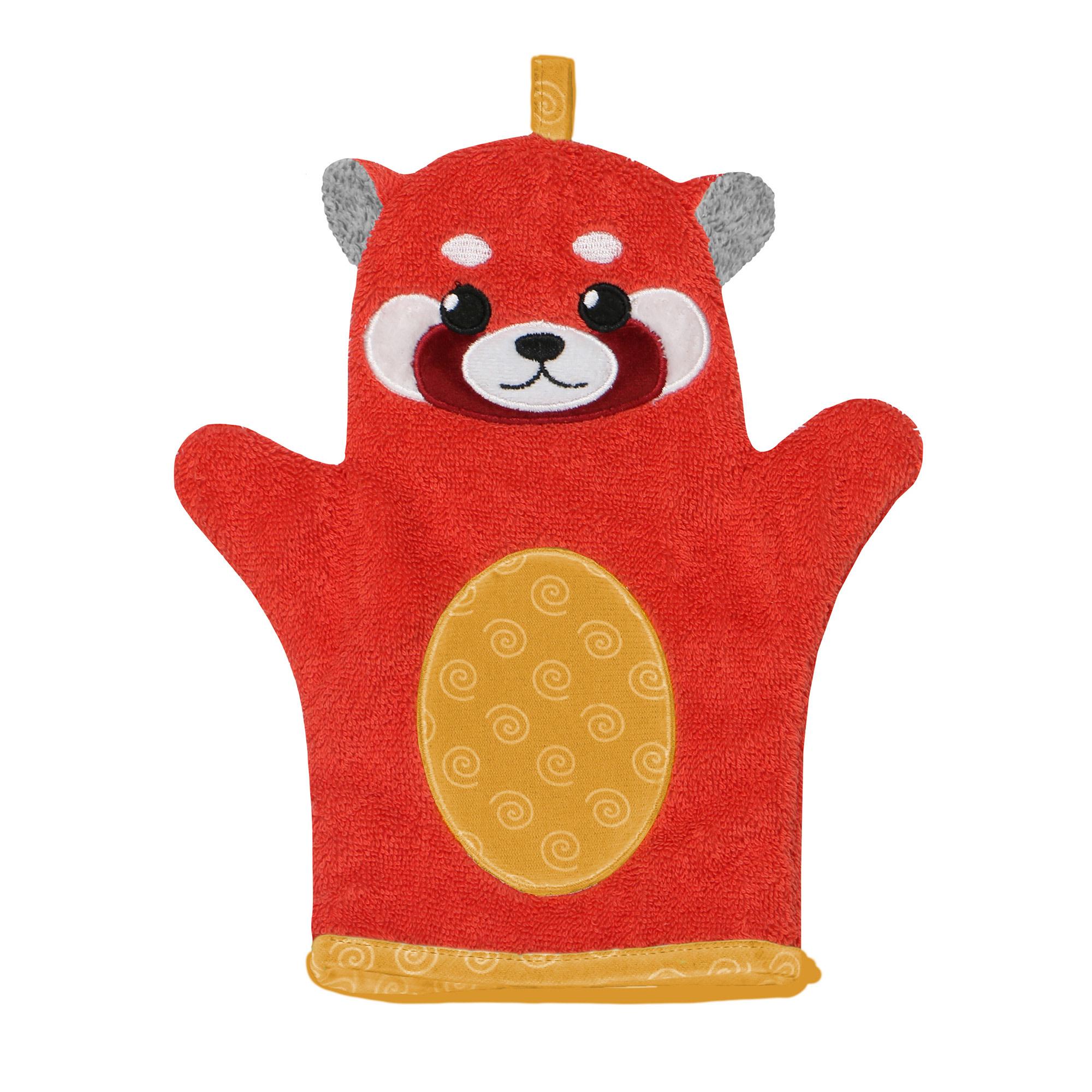 Mitaine pour le bain - Remi Panda Rouge-1